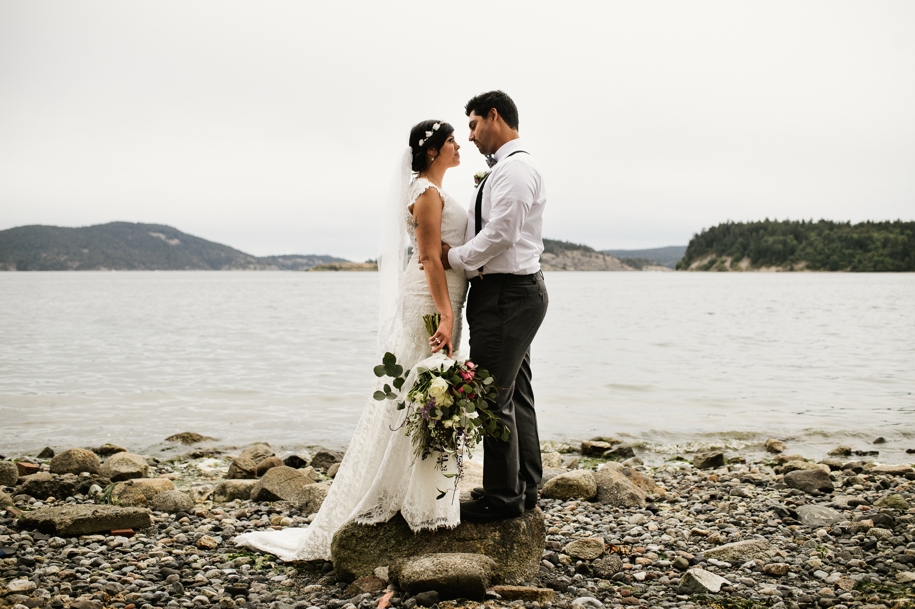 san juan island beach wedding photography