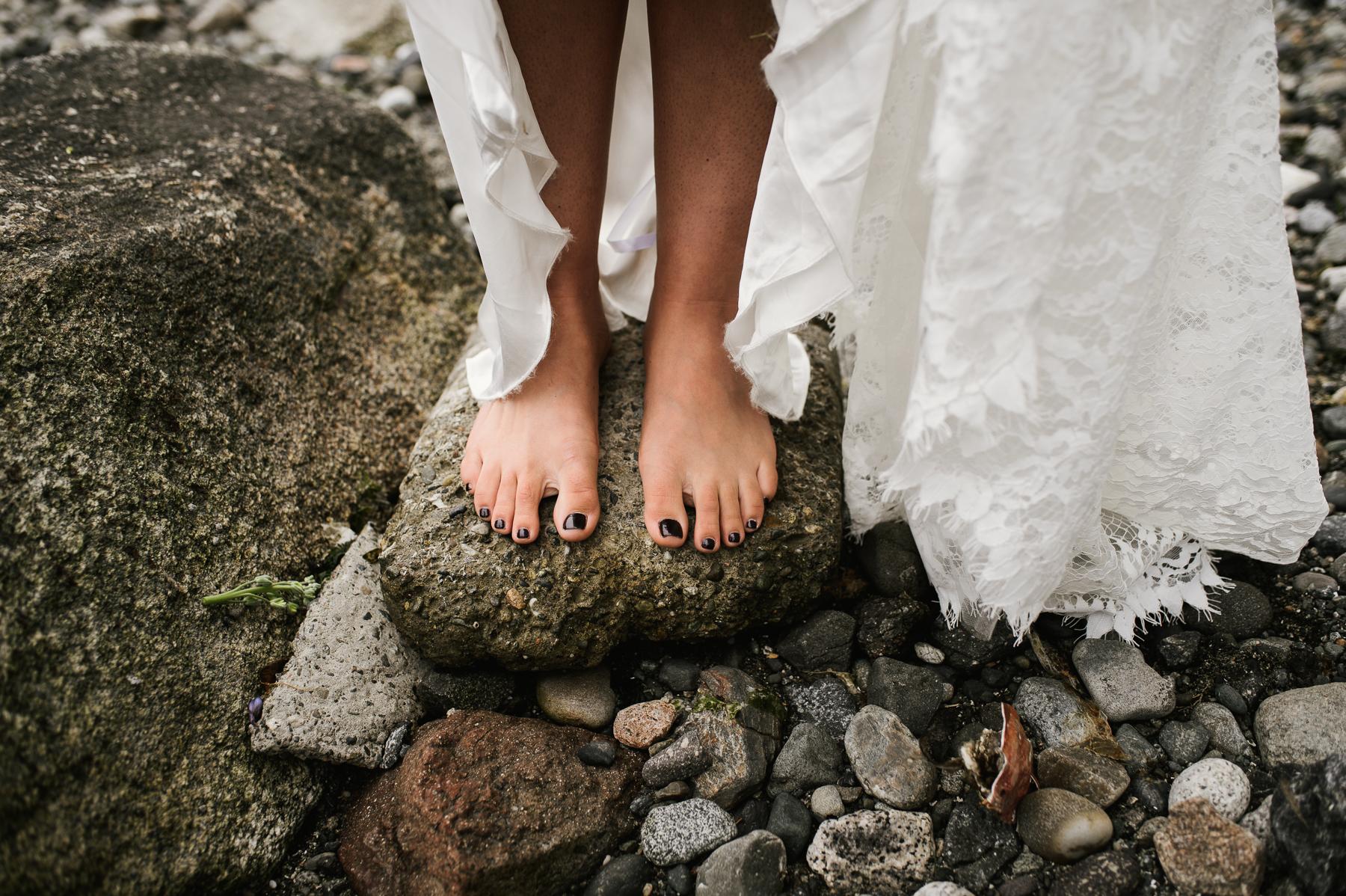 lopez island barefoot bride