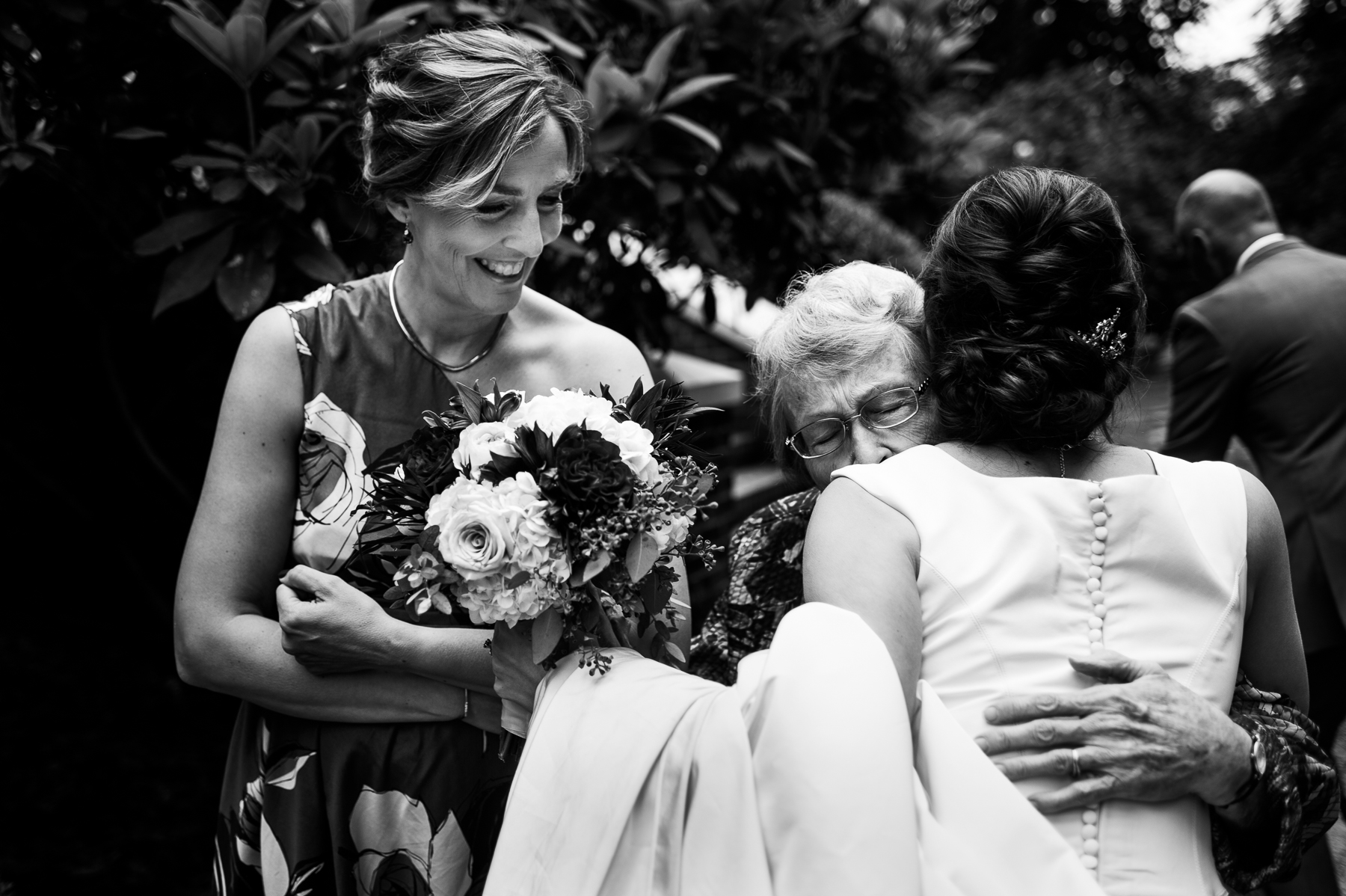 grandma moment with bride