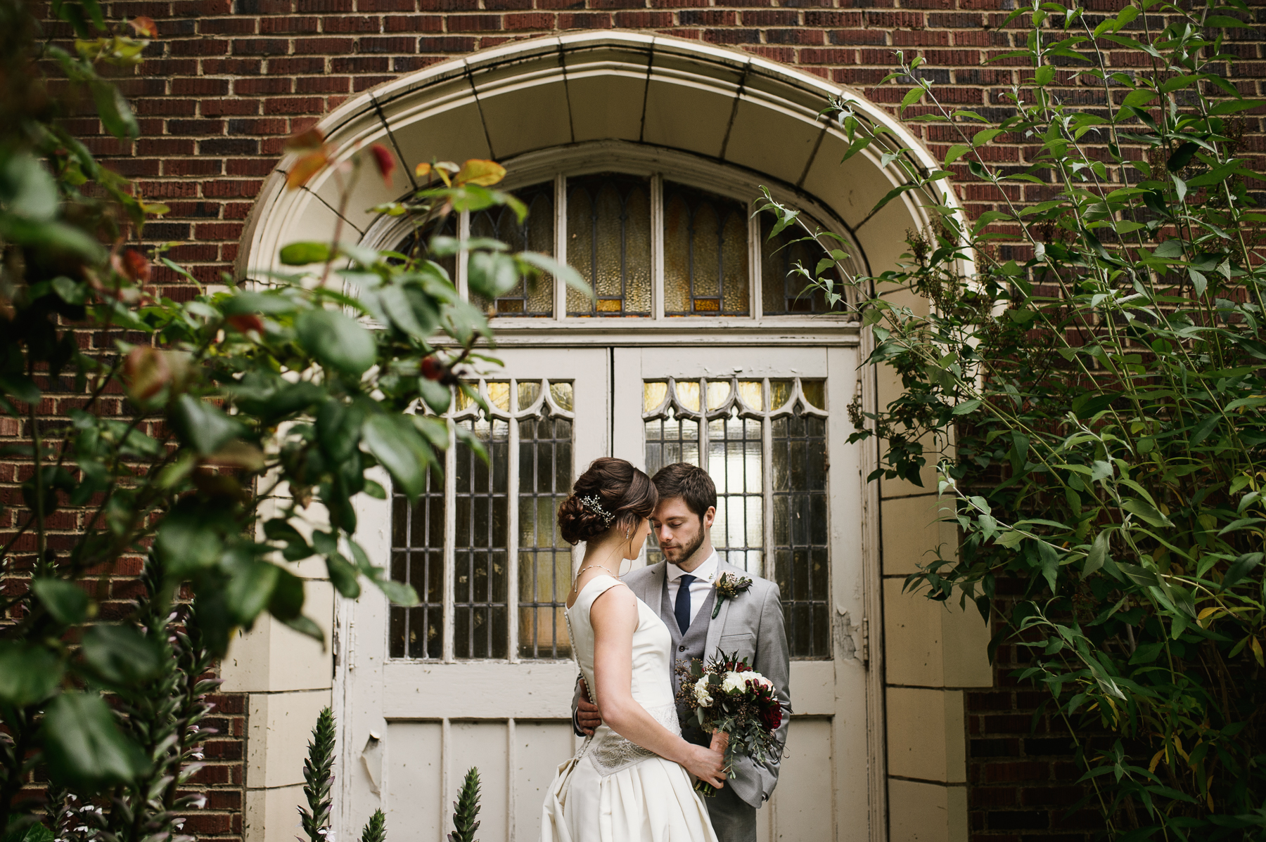 st. anne's chapel wedding portrait garden