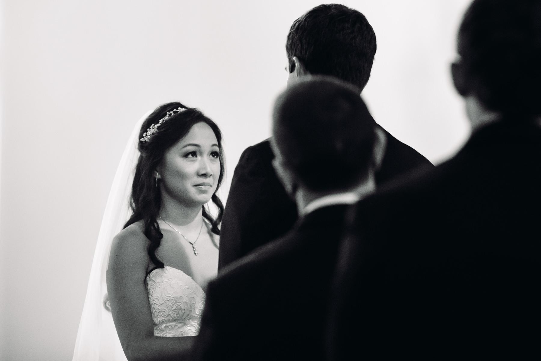 bride crying st patrick wedding ceremony