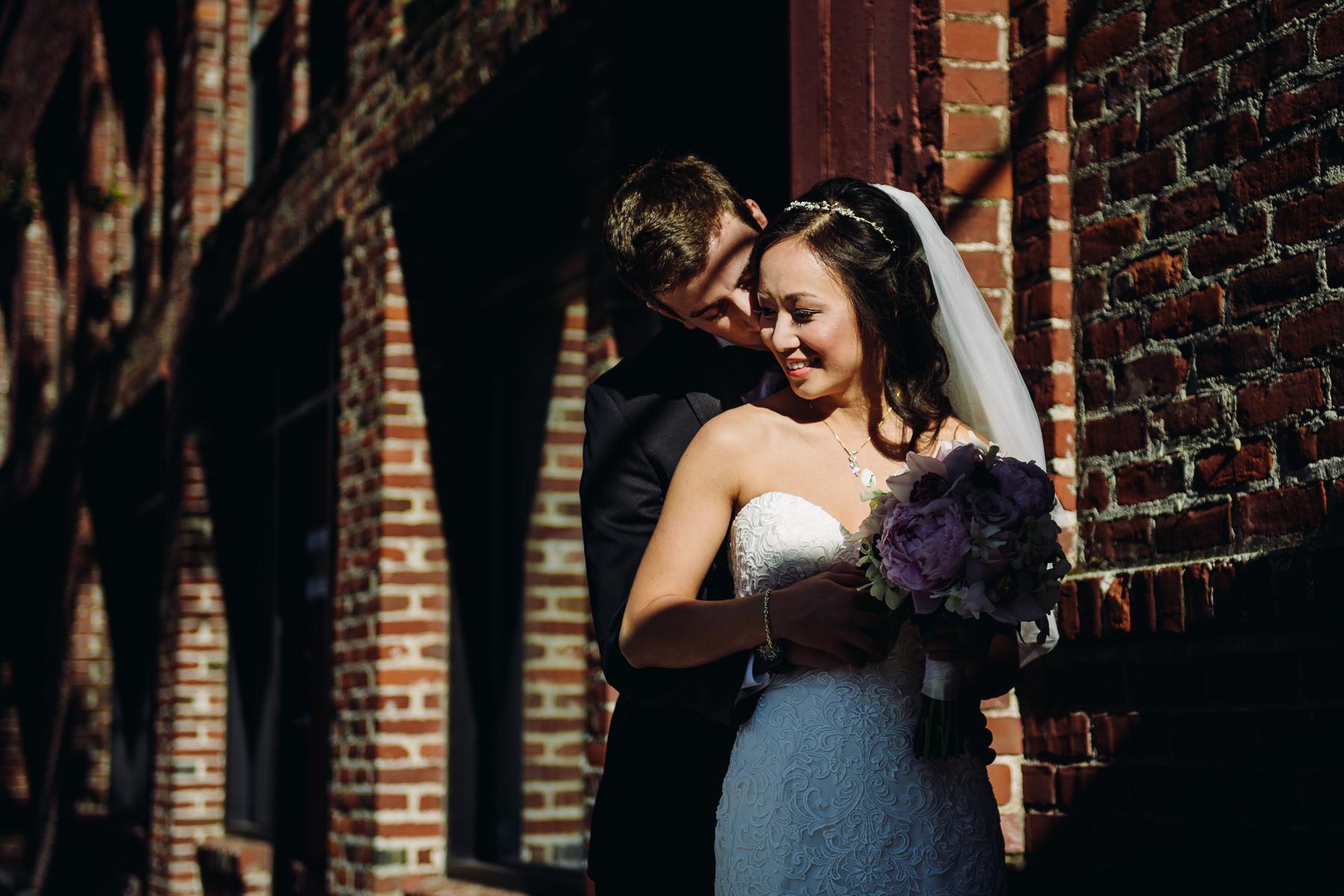 downtown portland urban wedding portrait