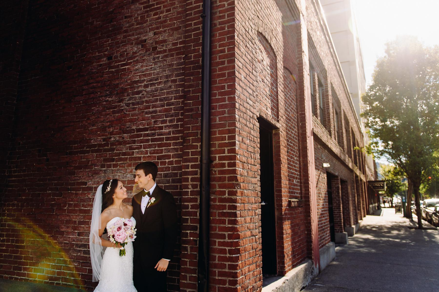urban wedding portrait portland
