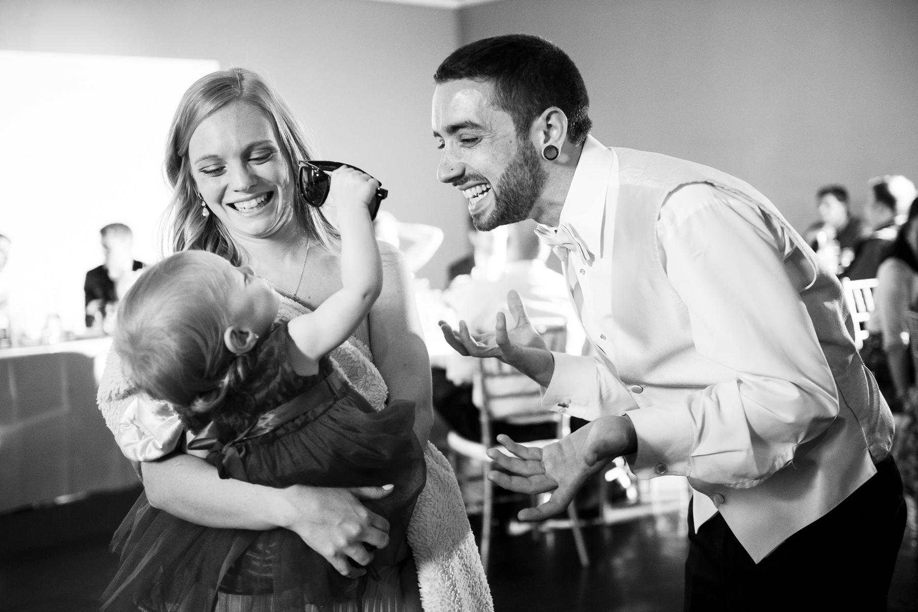 family moment urban studio wedding