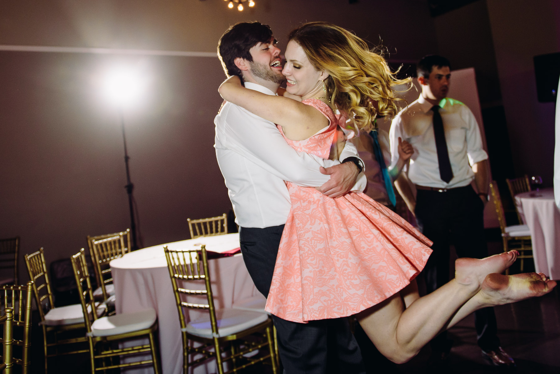 urban studio wedding reception dancing