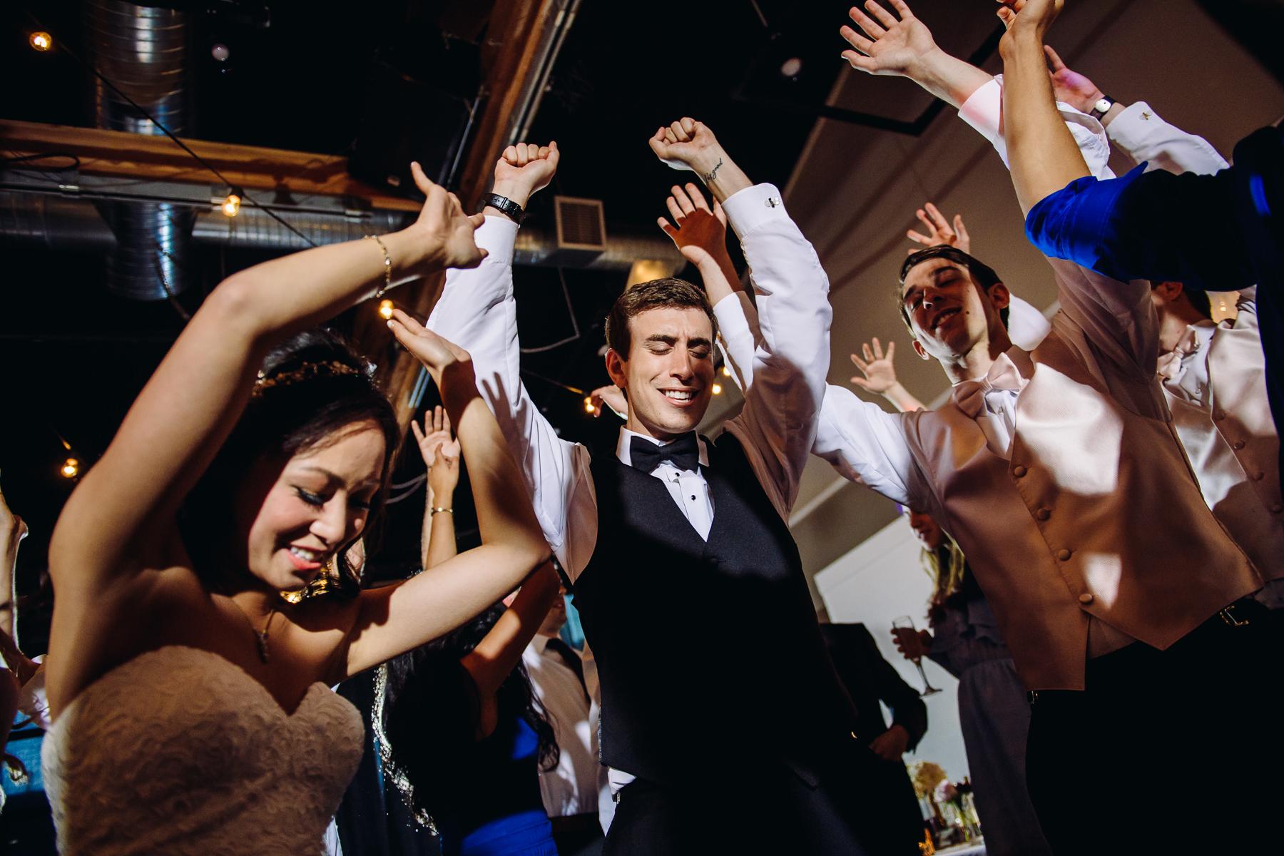urban studio wedding reception dance party