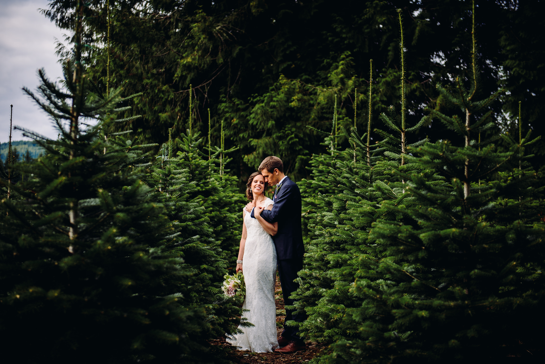 Trinity Tree Farm wedding portrait