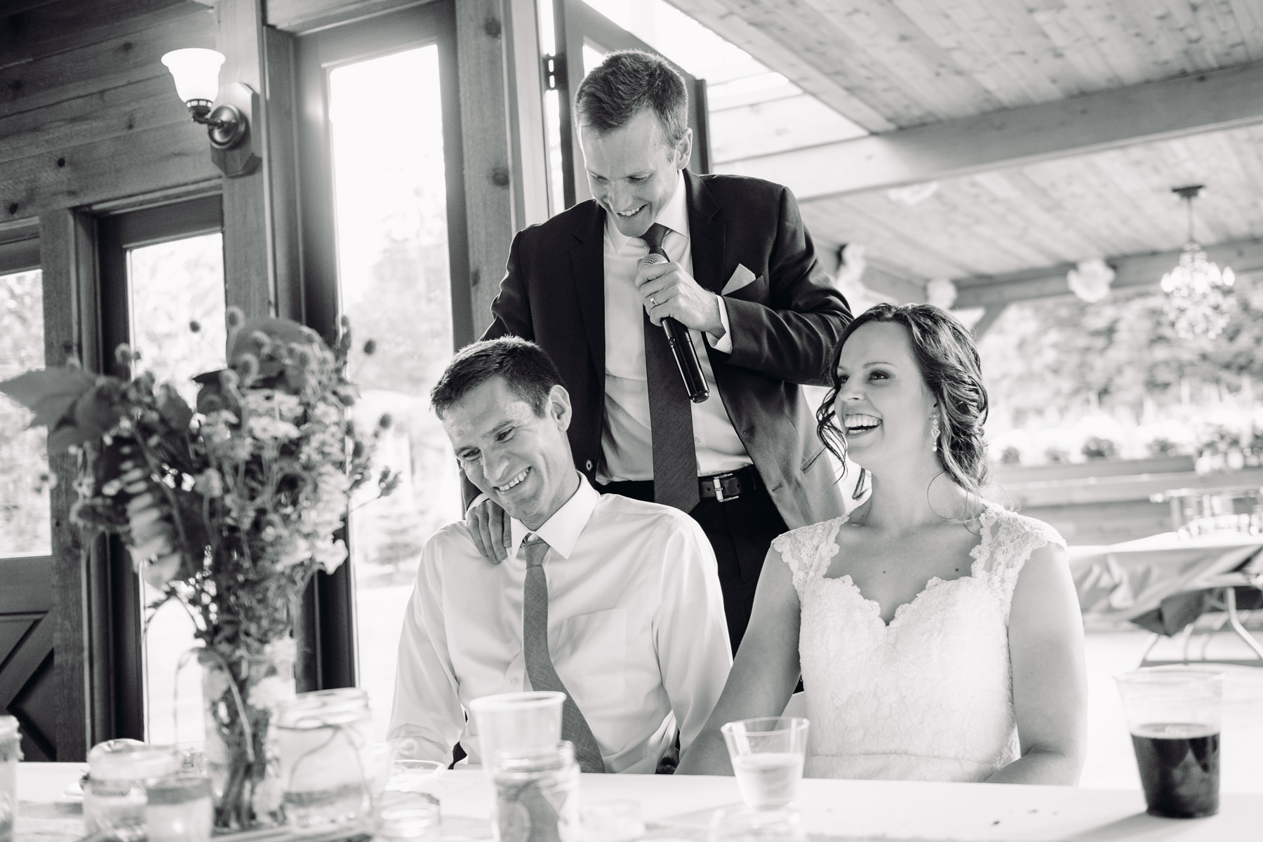 Trinity Tree Farm wedding Toast