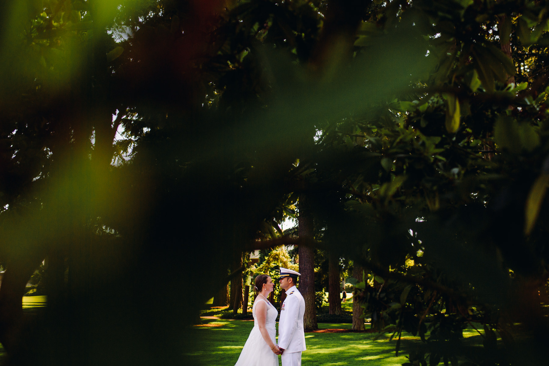 university of puget sound wedding portrait