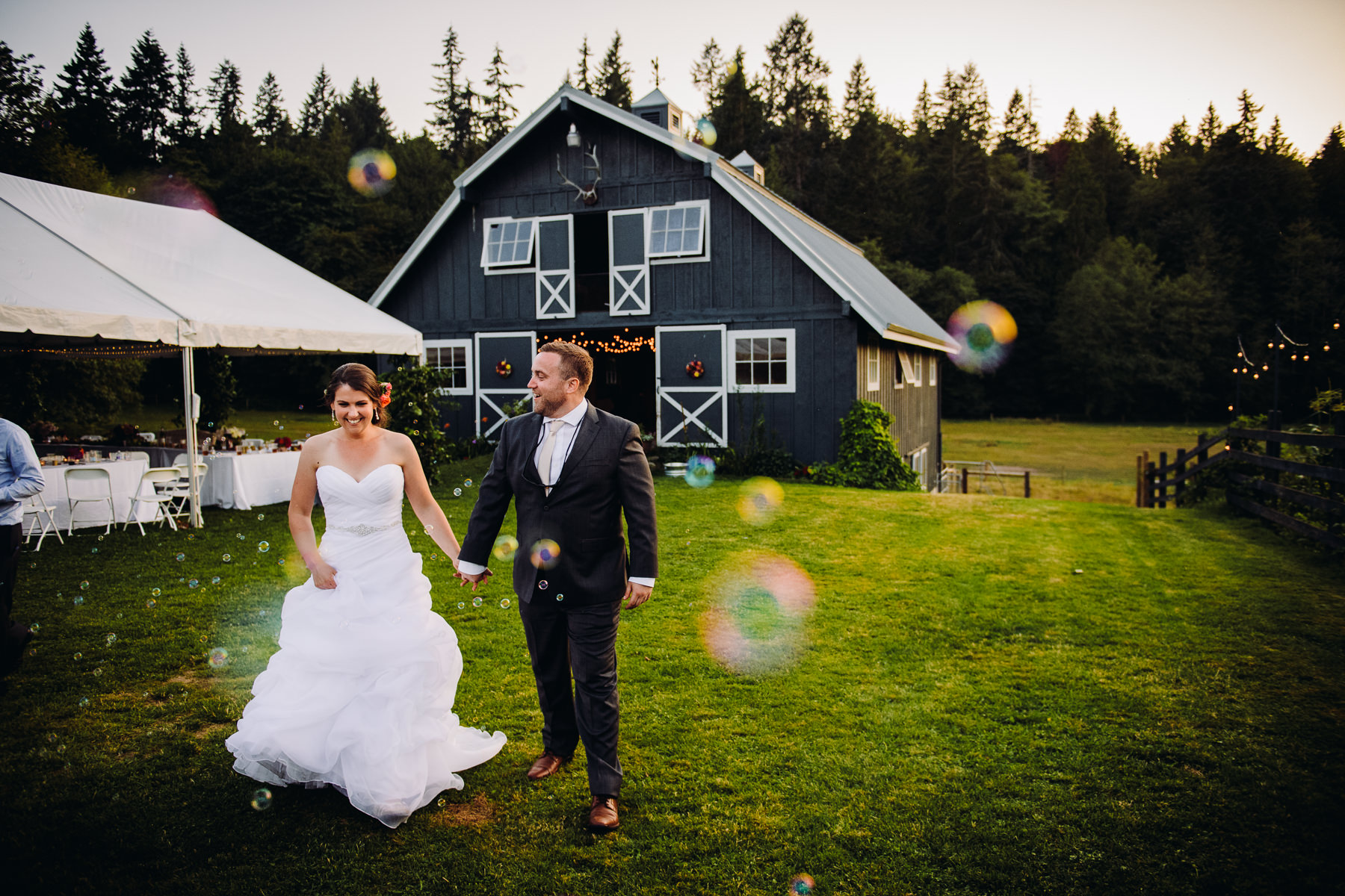 Bainbridge Island Farm Wedding