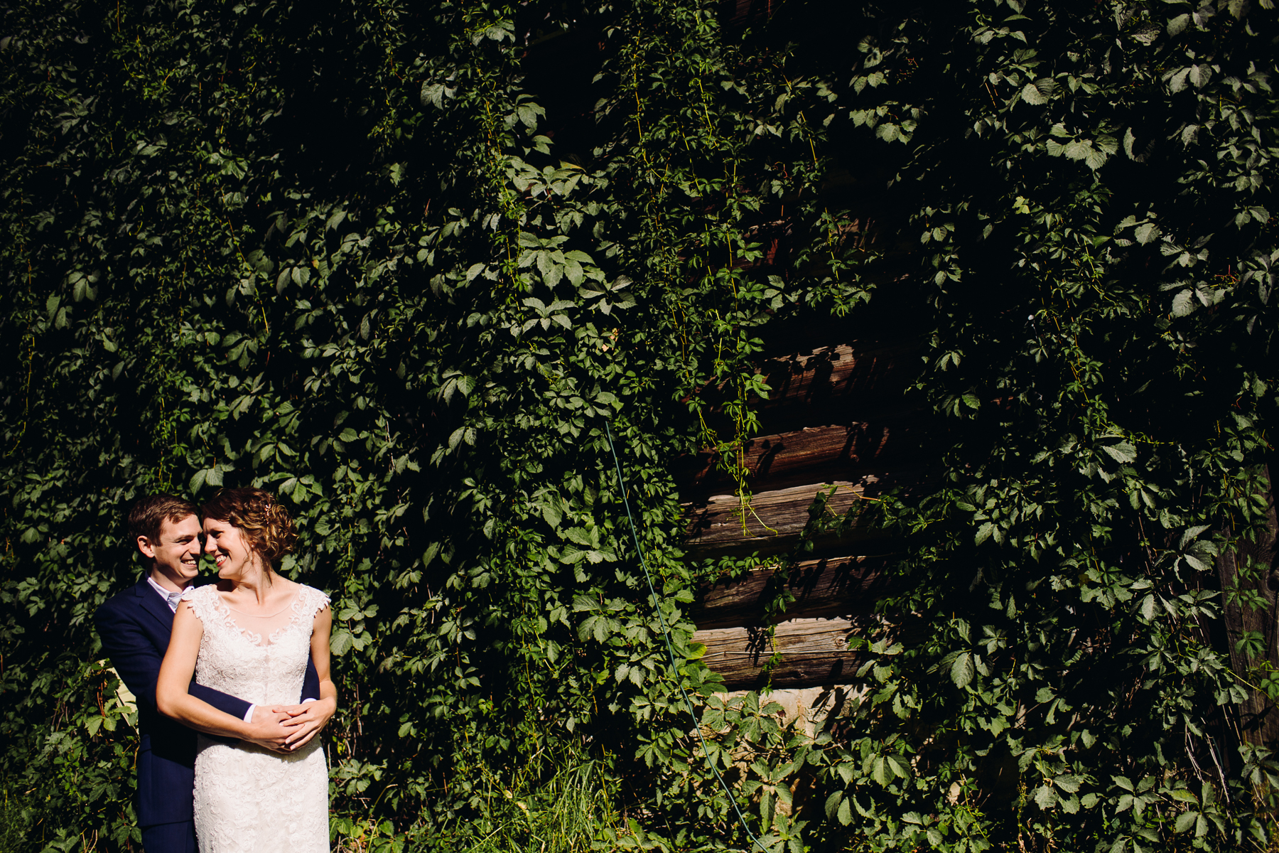brown family homestead wedding portraits