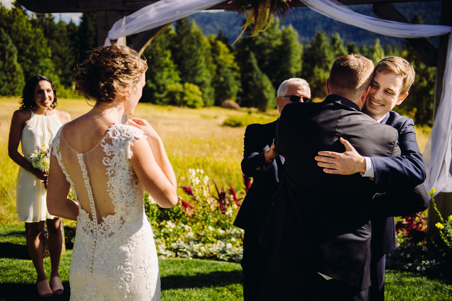 brown family homestead wedding ceremony