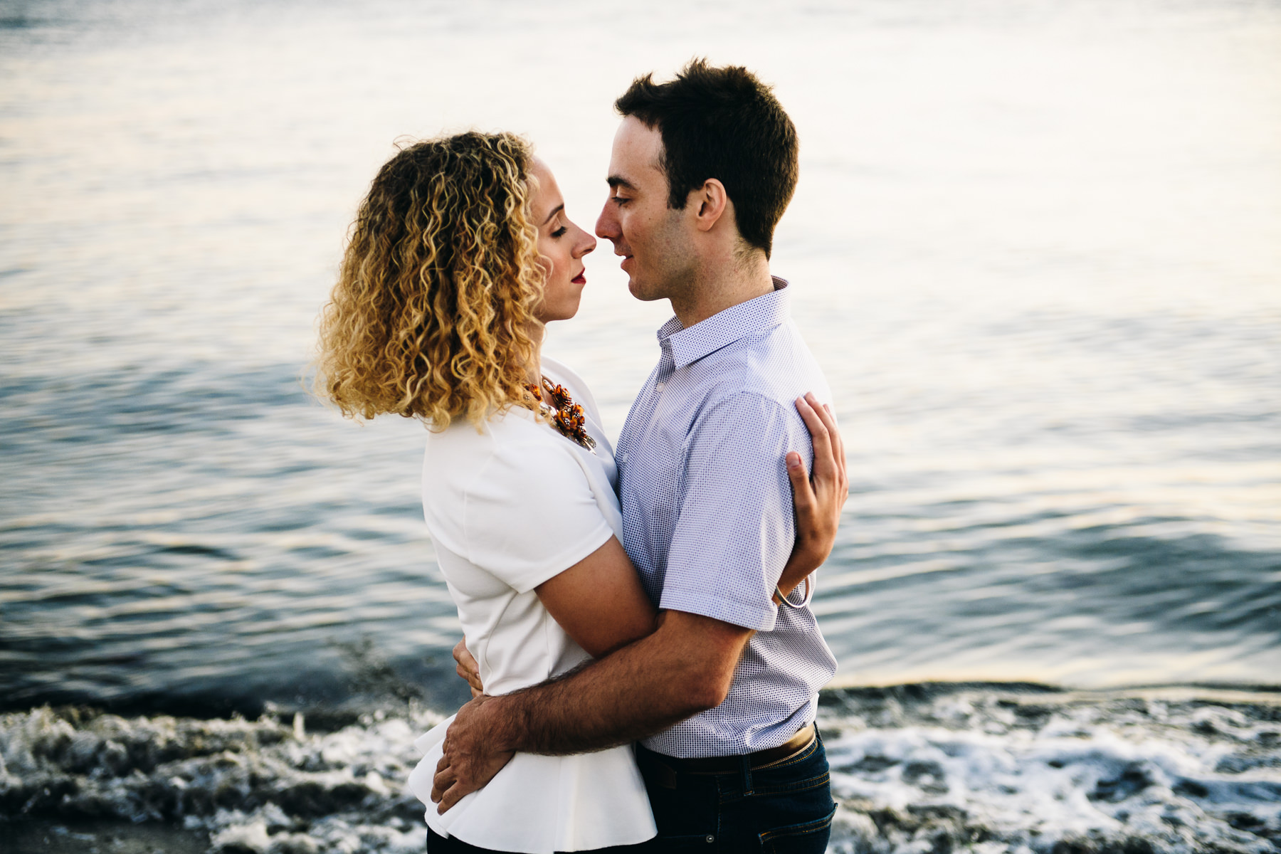 discovery park fall engagement photos