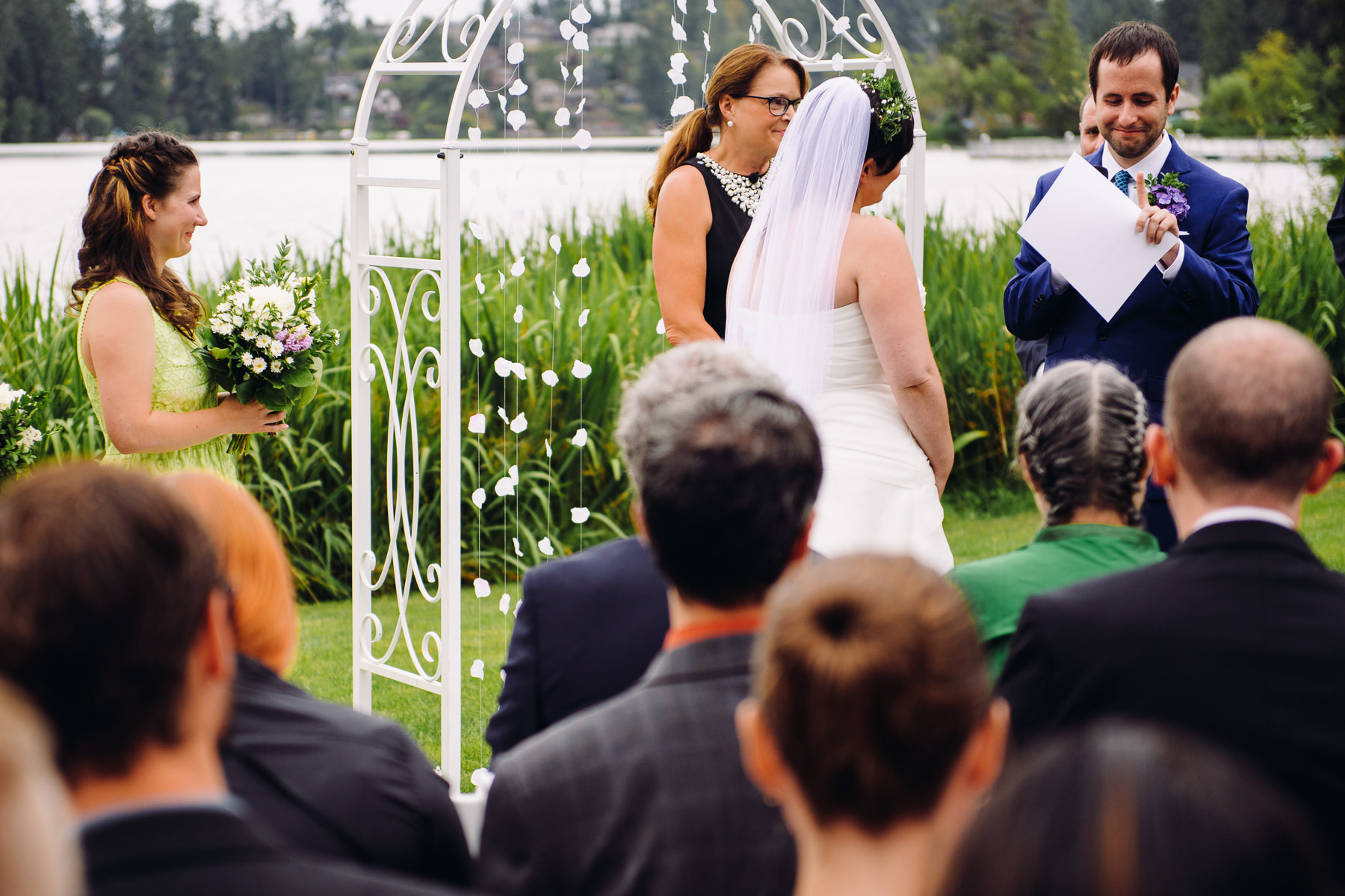 lake wilderness lodge wedding ceremony