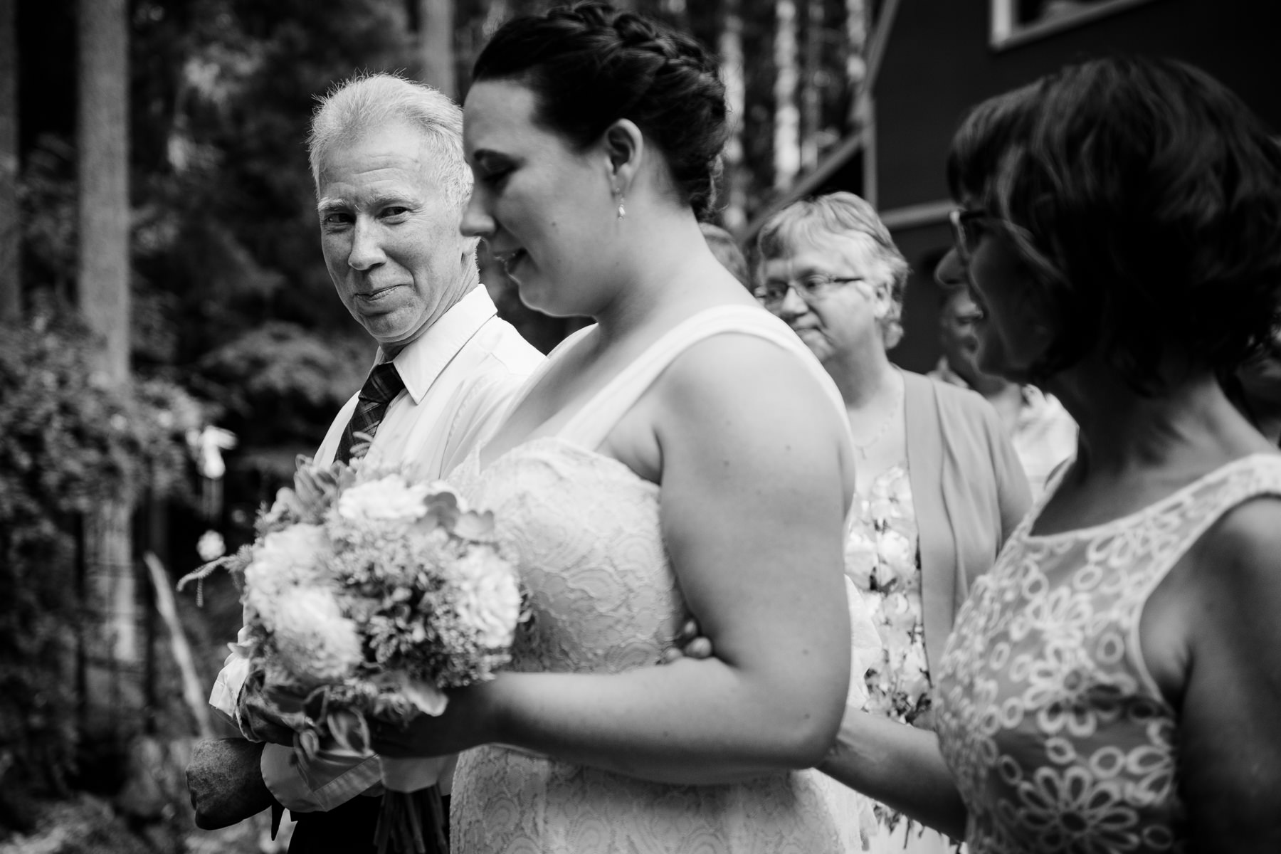 father of bride at wedding