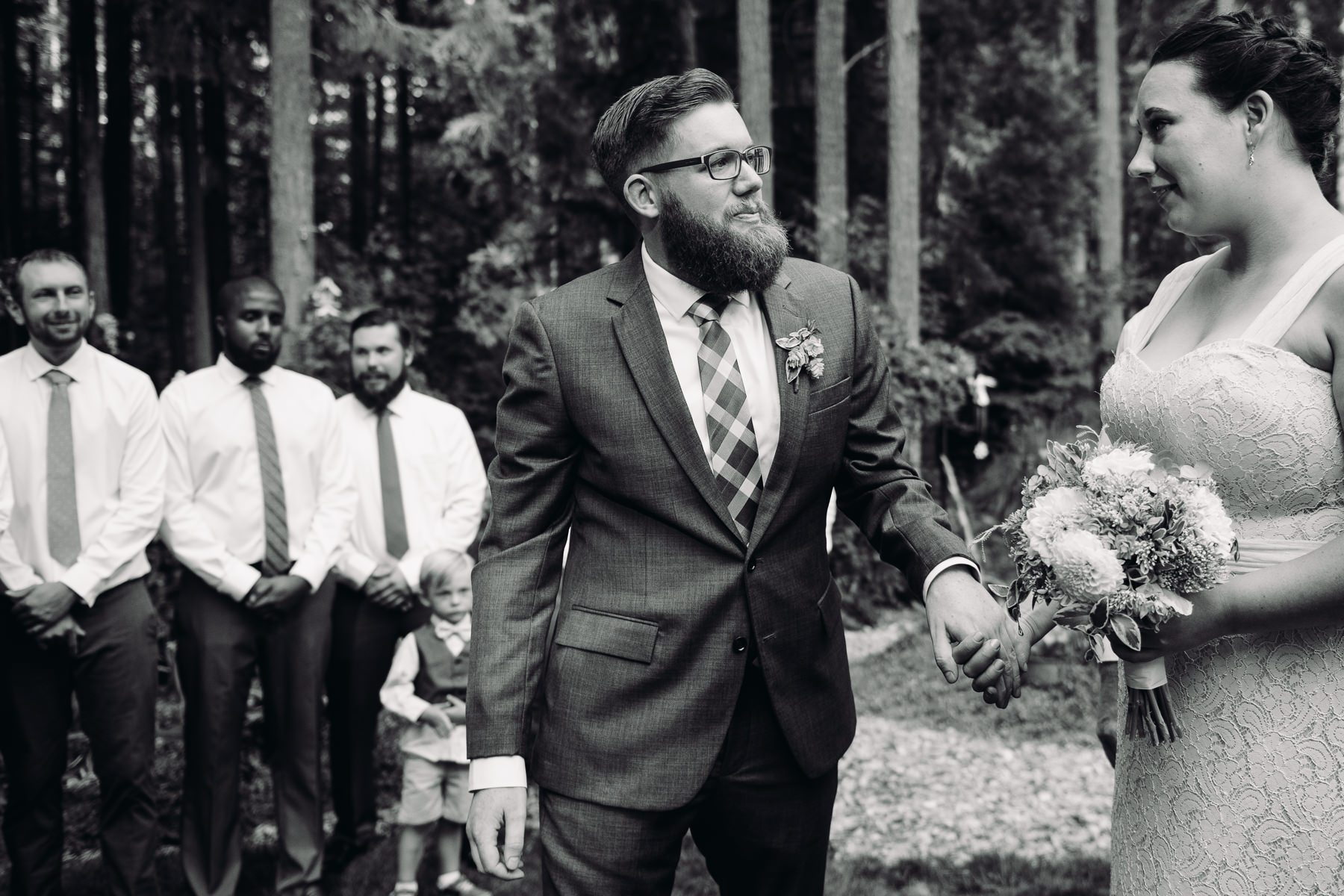 kitsap forest wedding ceremony