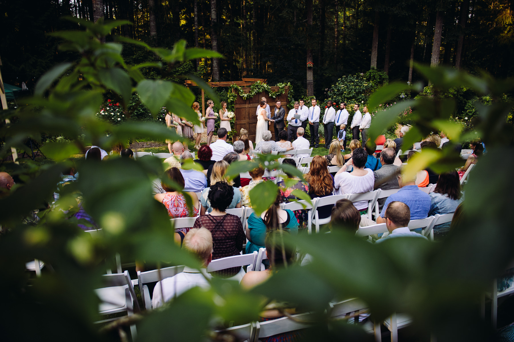kitsap forest wedding