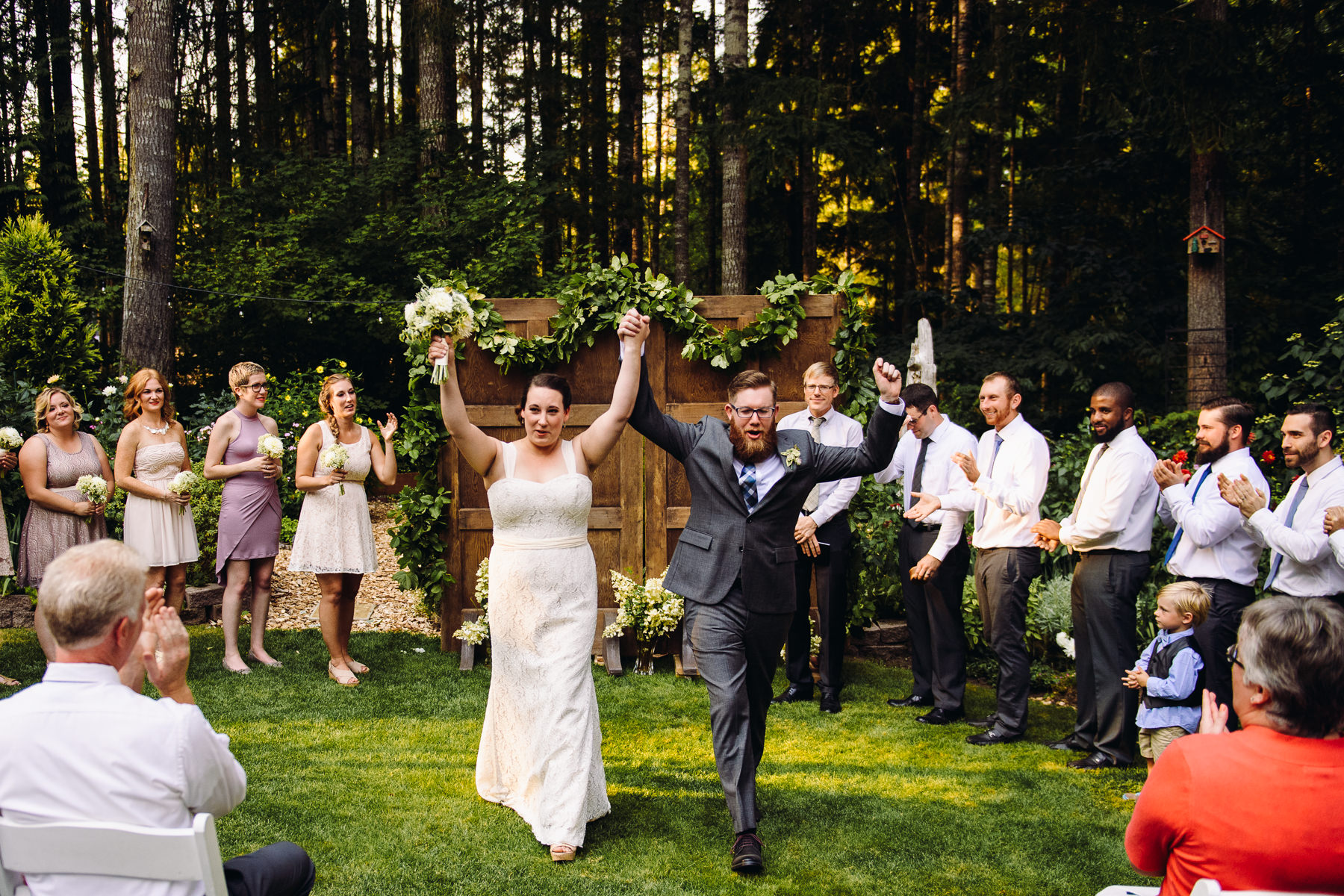 backyard forest wedding