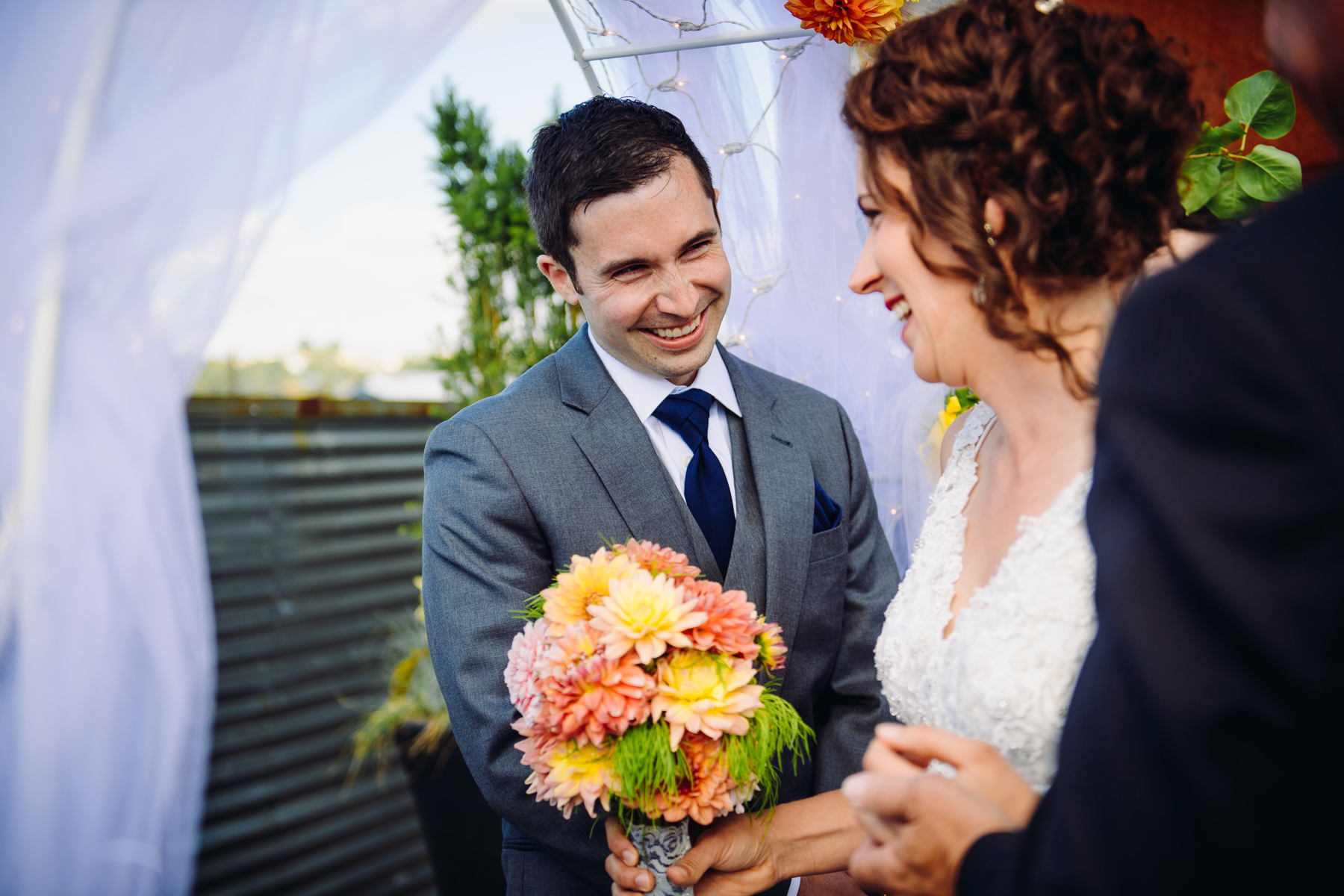 within solo rooftop wedding photography