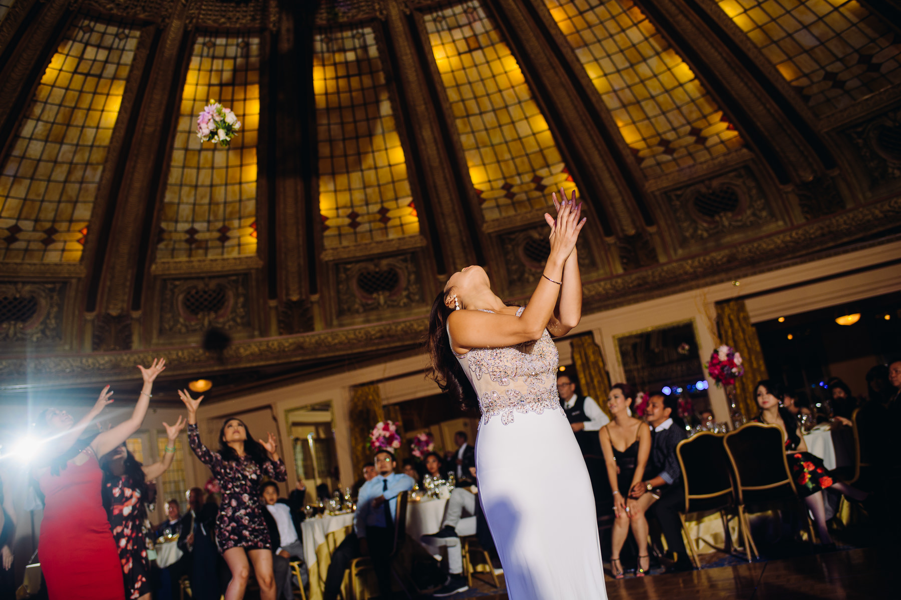 arctic club bouquet toss