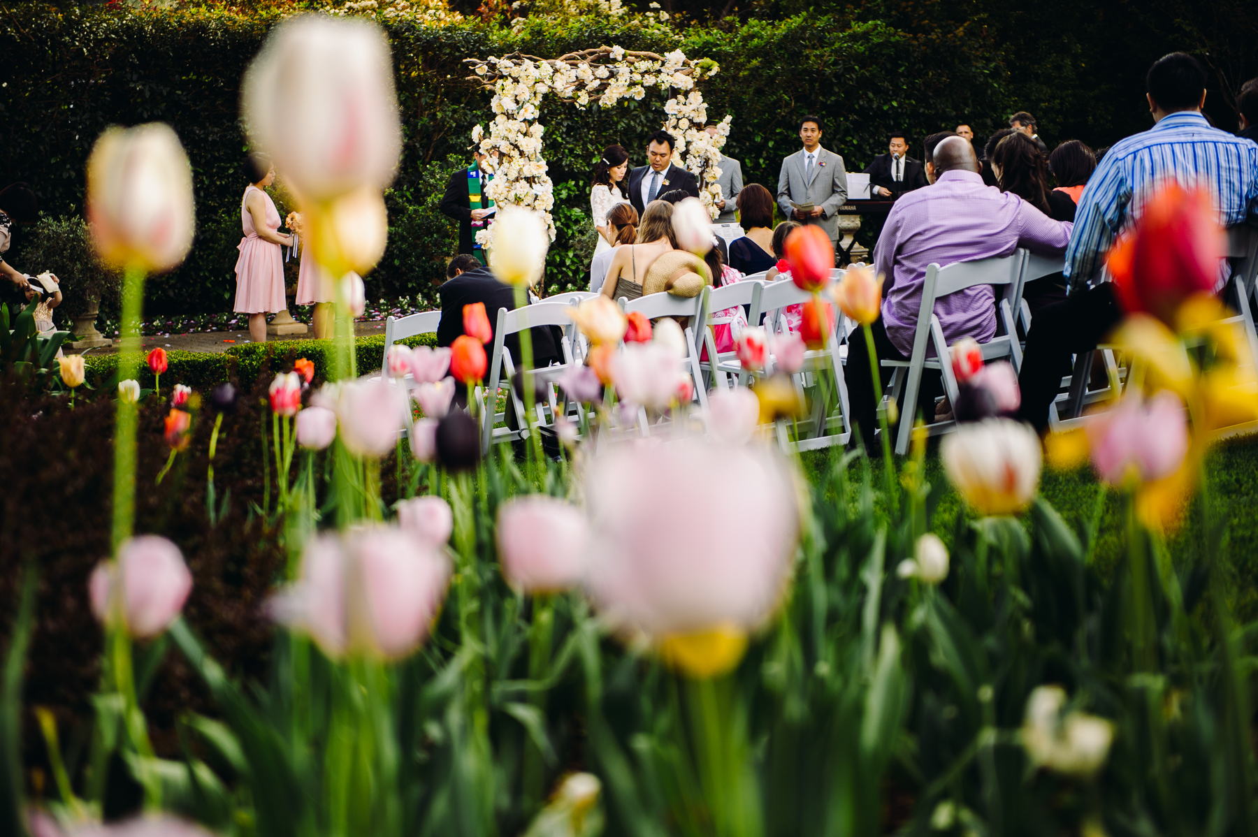 spring time Madrona Manor Wedding