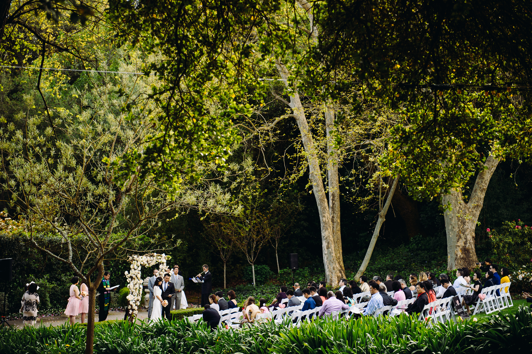 Madrona Manor garden Wedding ceremony