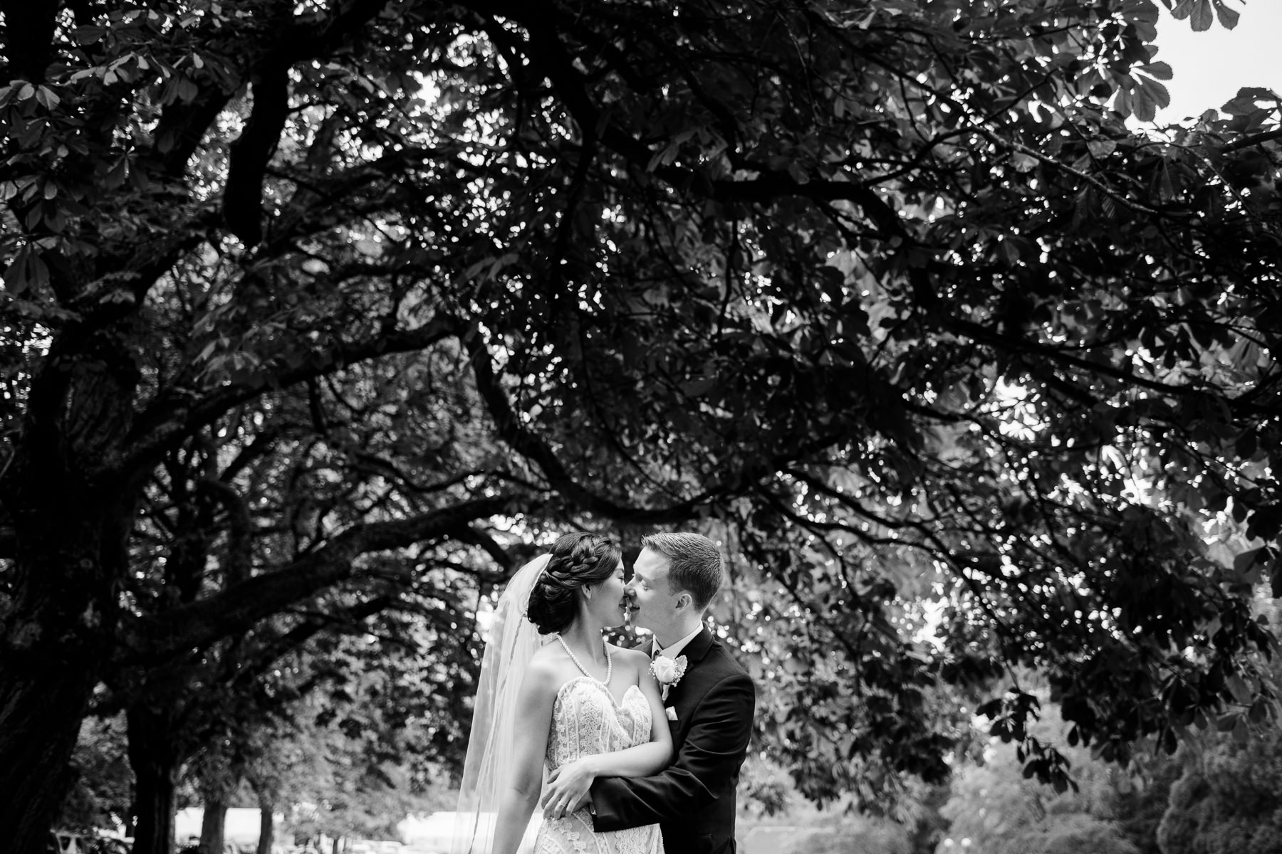 volunteer park wedding portraits