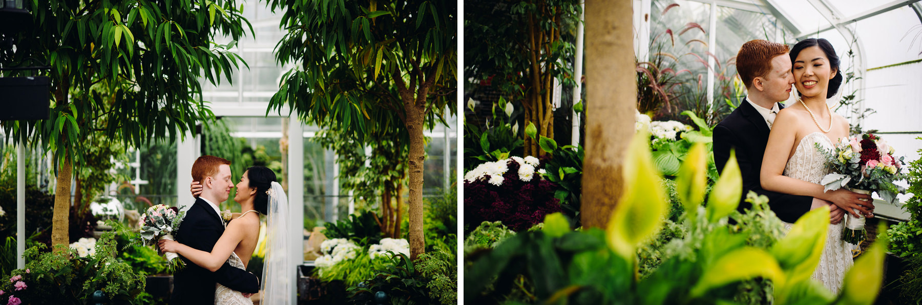 volunteer park conservatory wedding portraits