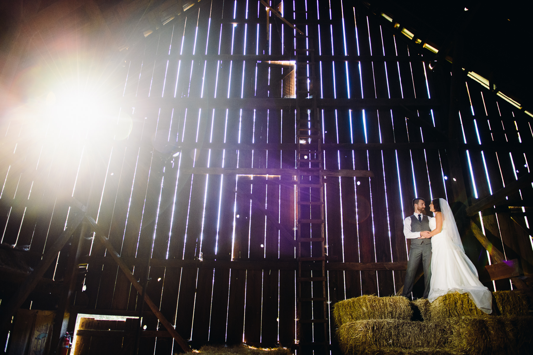 Pomeroy Farms creative wedding portraits