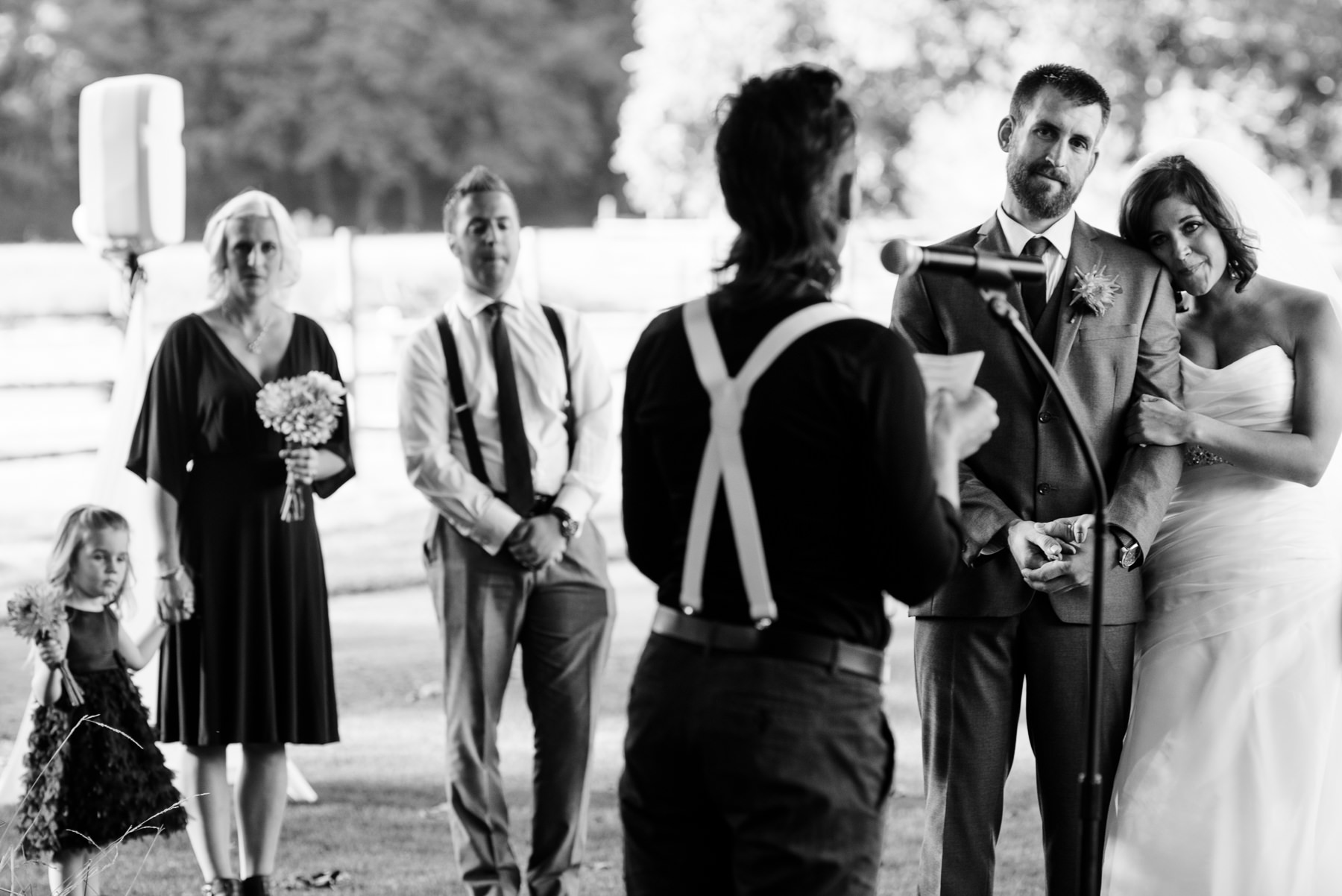 Pomeroy Farms wedding ceremony prayer