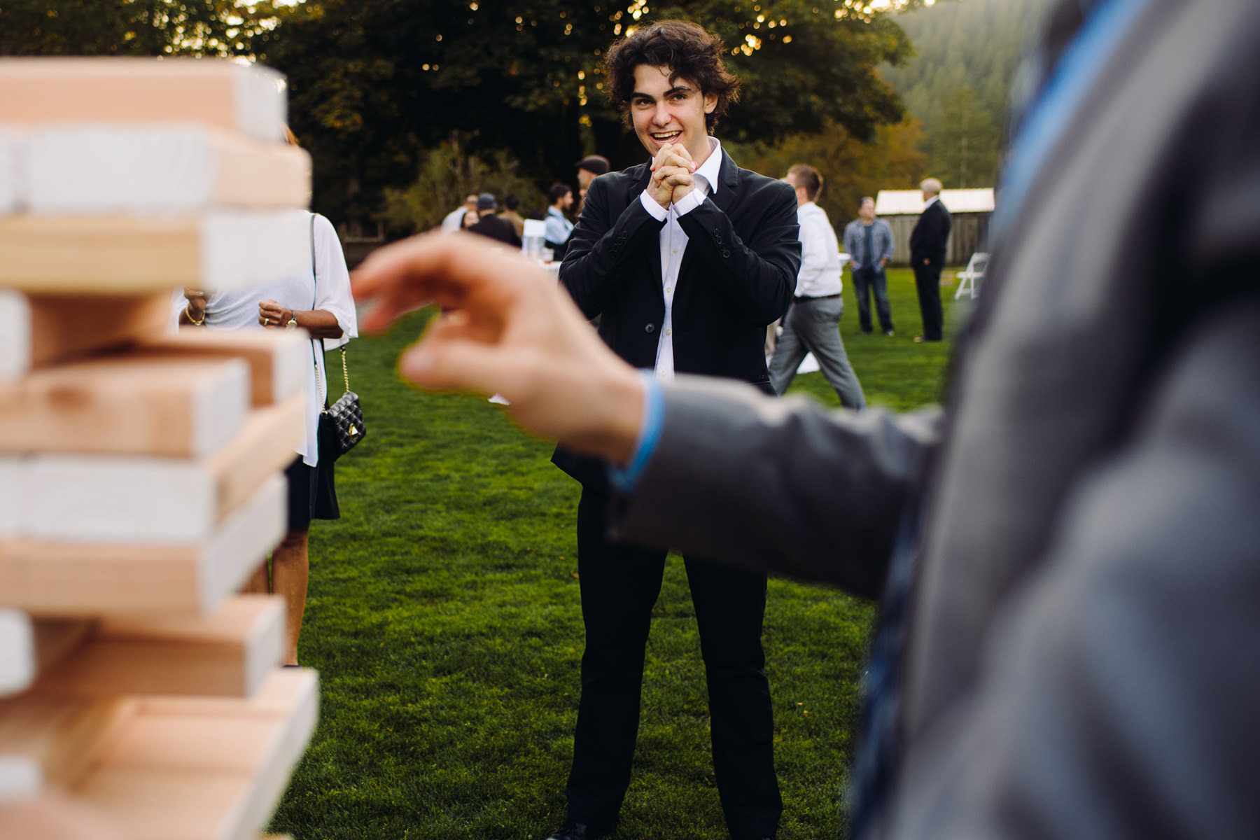 Pomeroy Farms wedding jenga