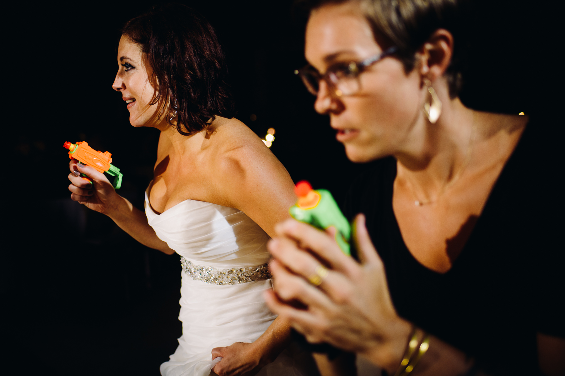 wedding nerf gun fight photos