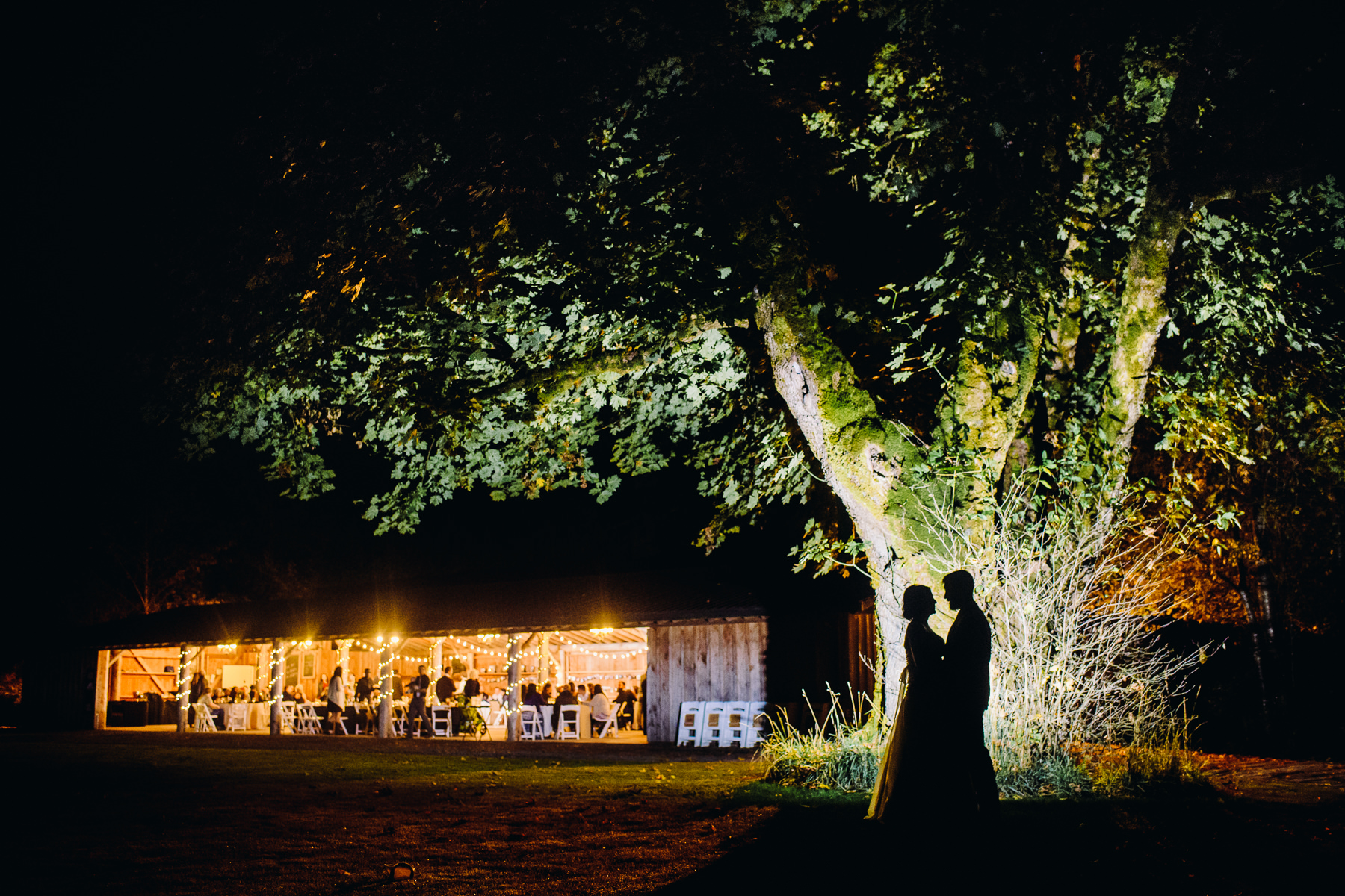 pomeroy farm night wedding photo