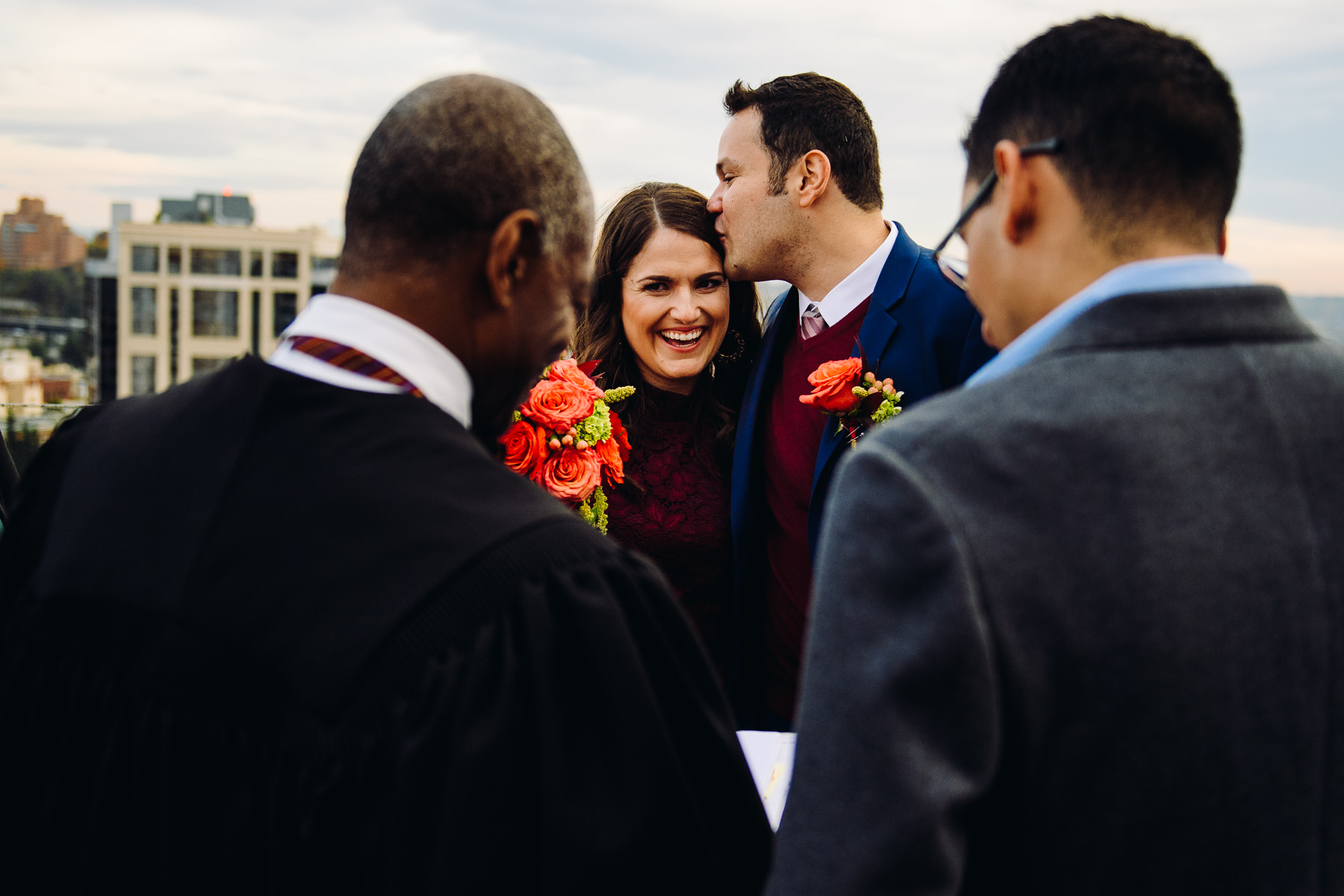 seattle courthouse wedding photo