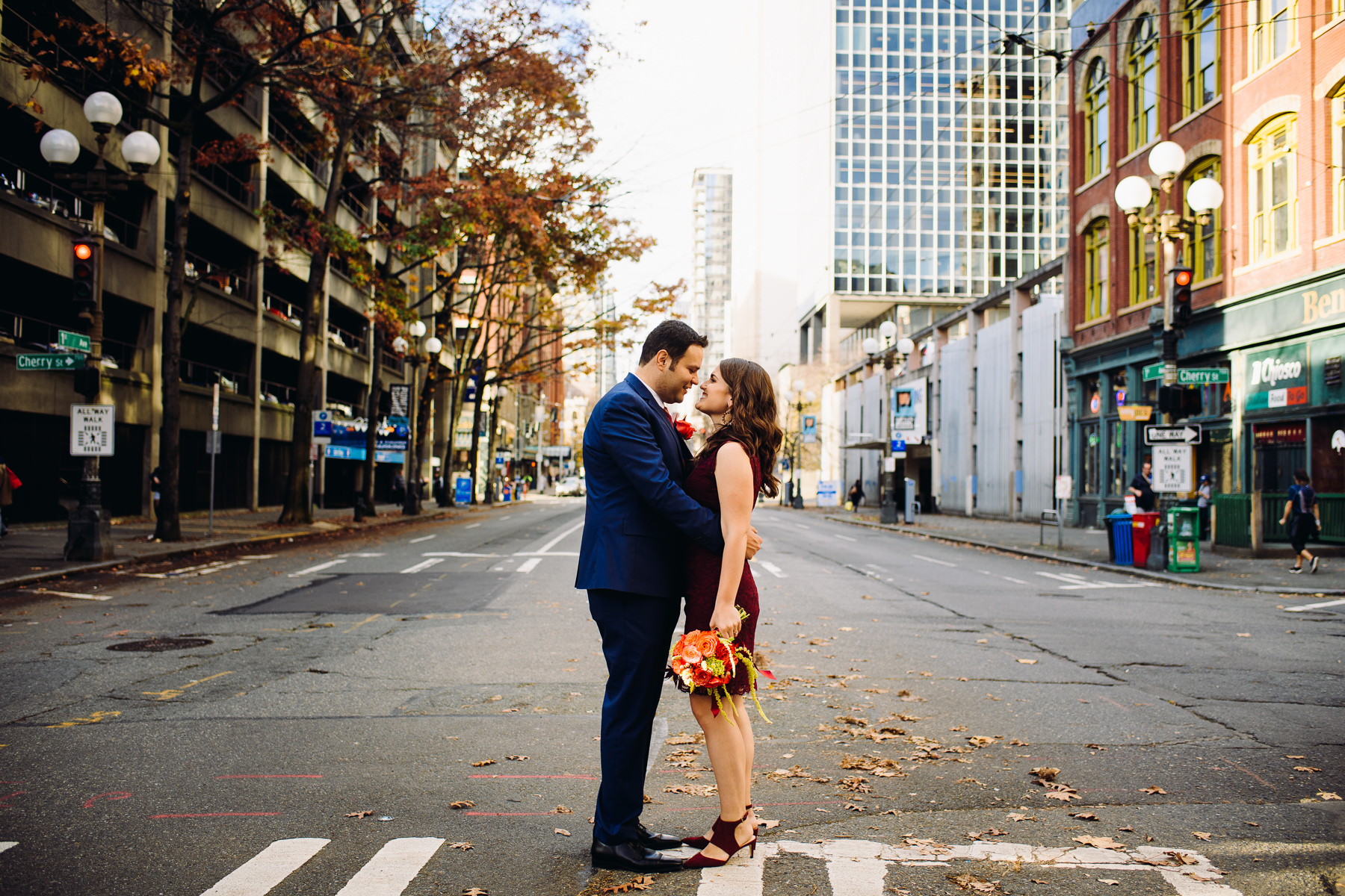 pioneer square wedding photos