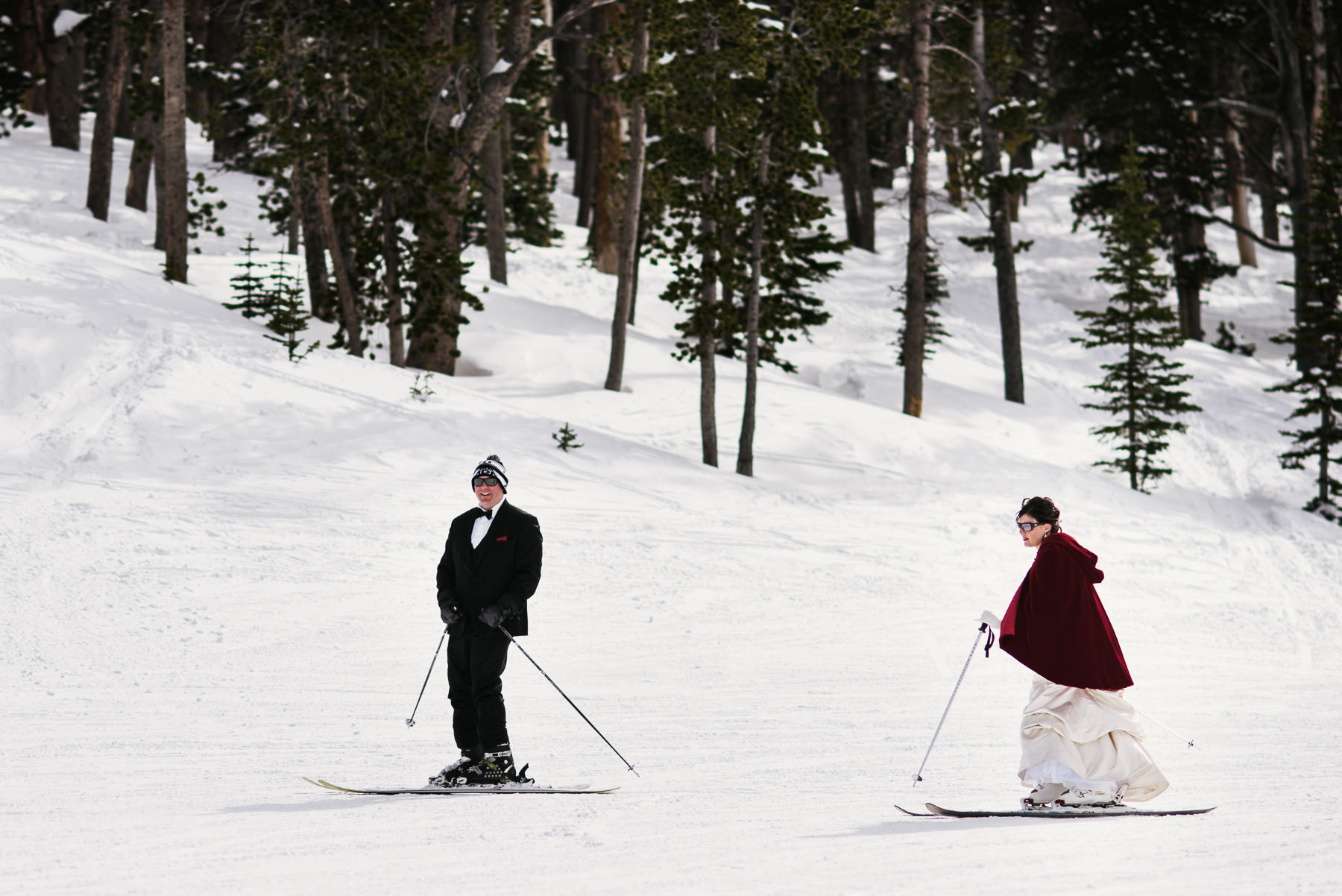 skiing wedding
