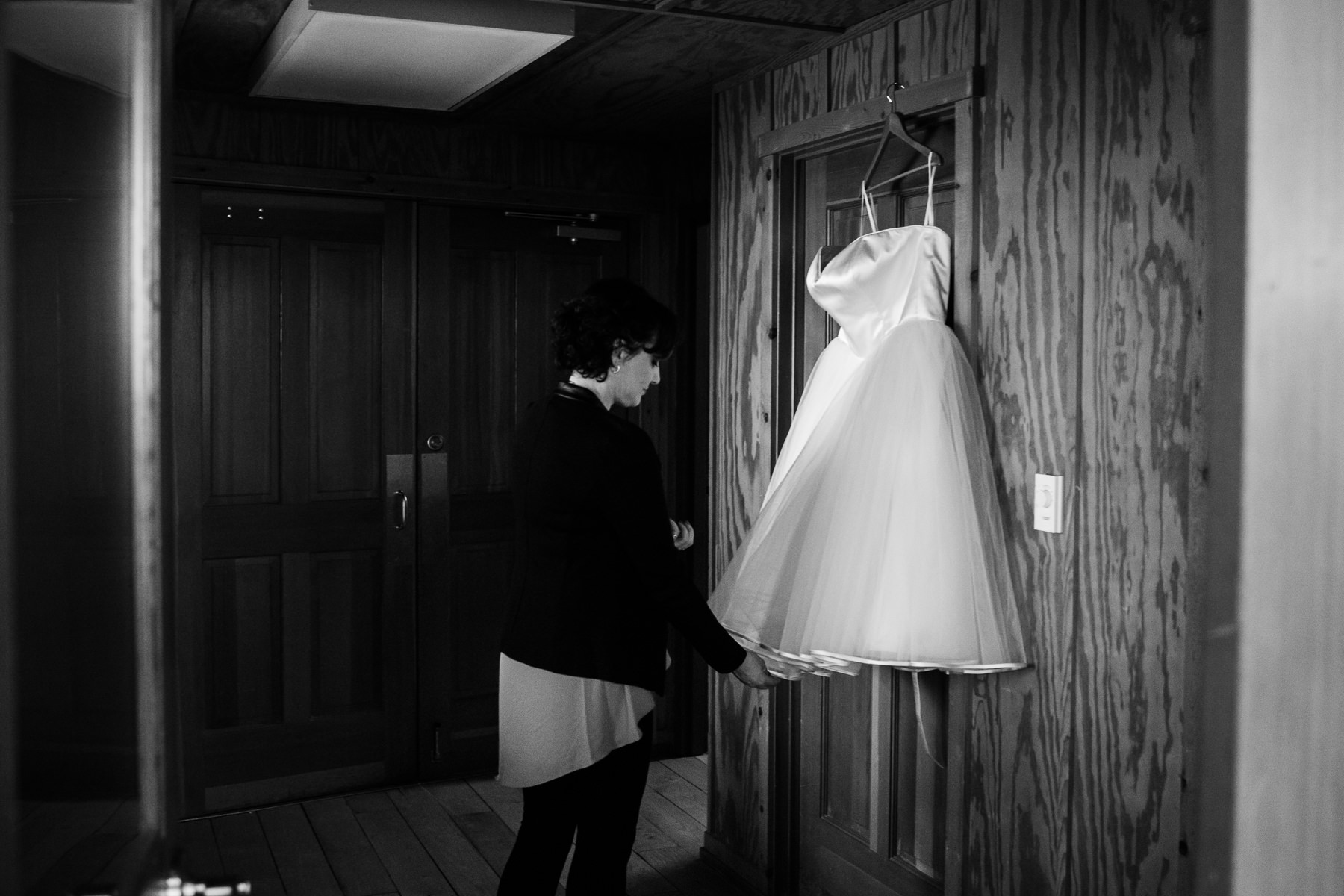 wedding dress at sleeping lady resort