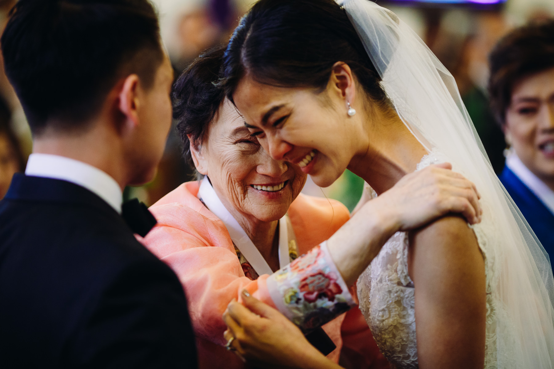 grandma and bride wedding ceremony moment