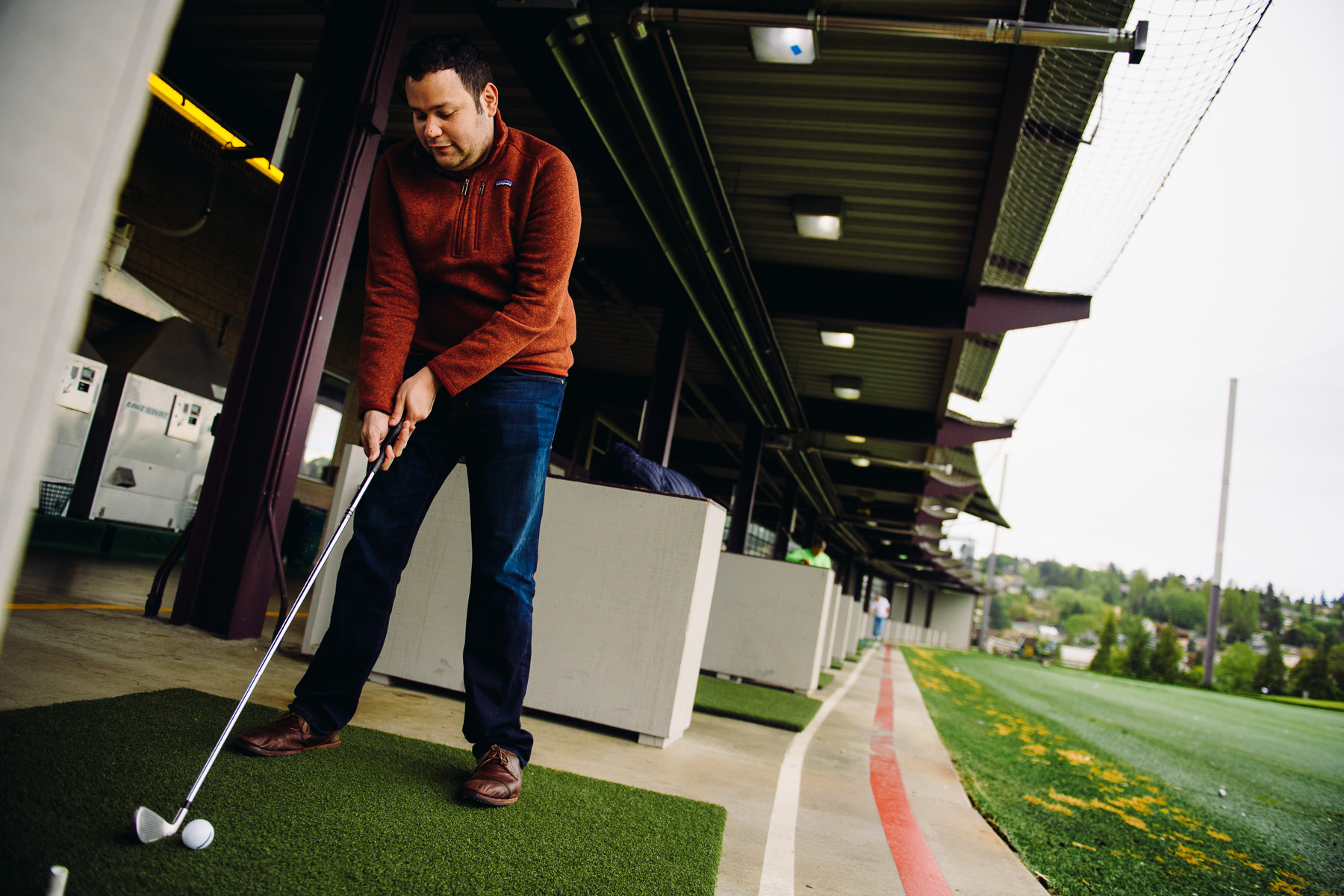 groom at Inner Bay Golf range