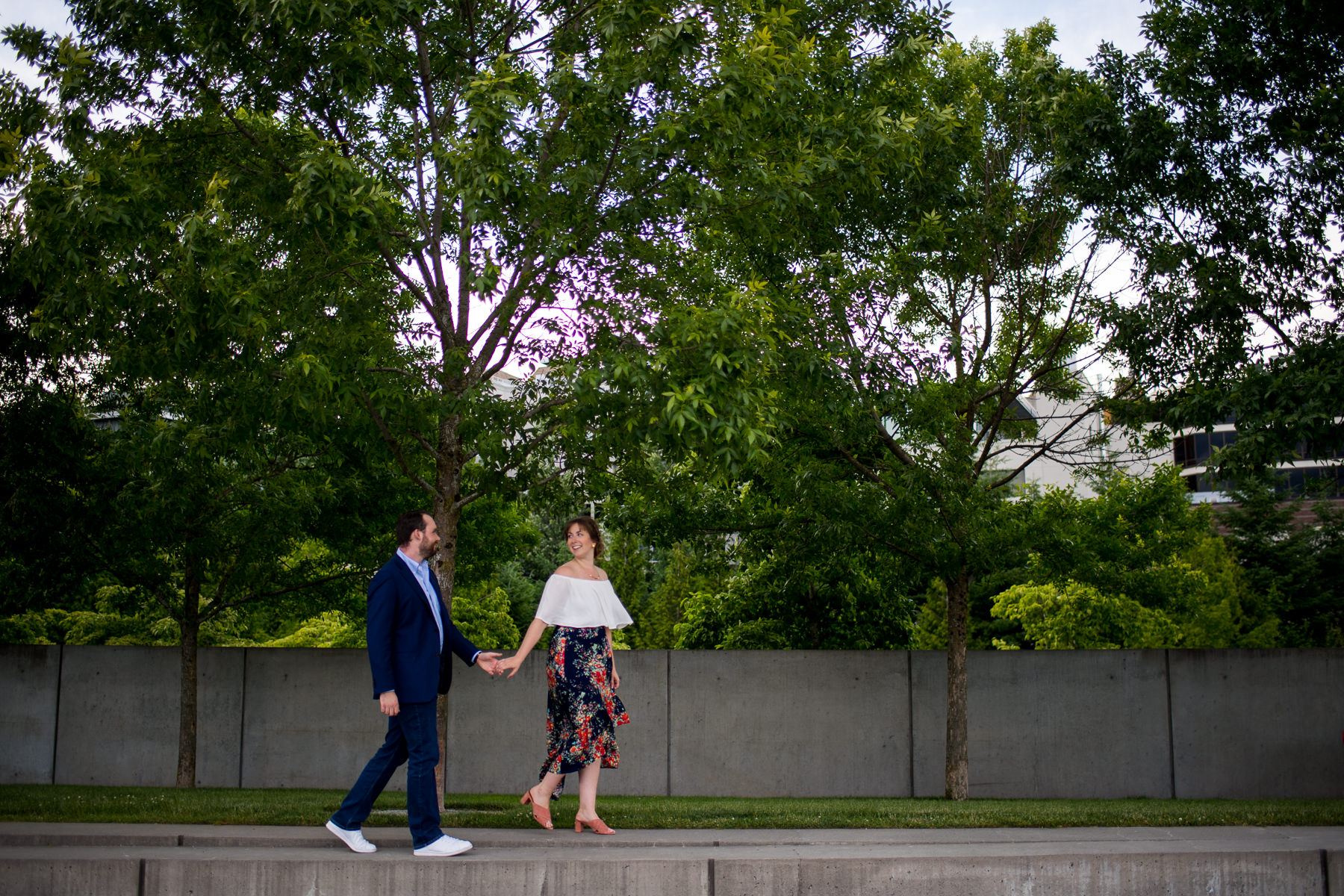 cute sculpture park engagement session