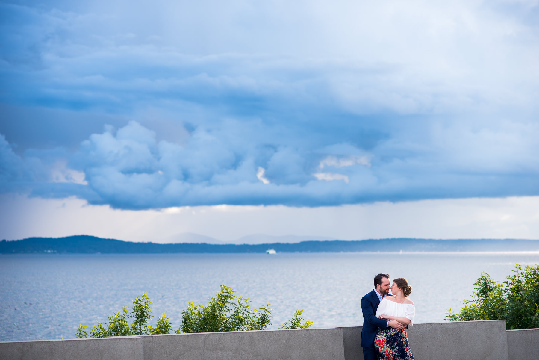 dramatic Seattle engagement session