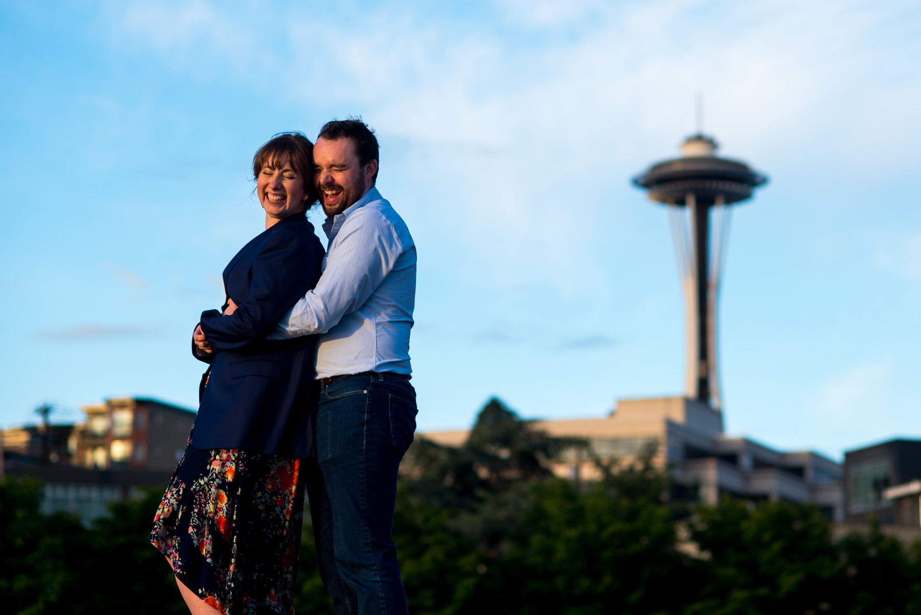 seattle space needle engagement session
