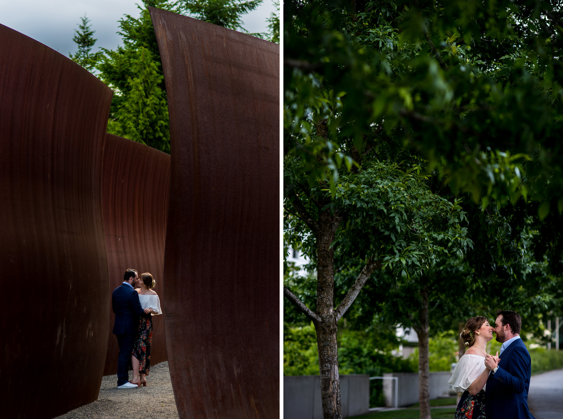 Seattle sculpture park engagement