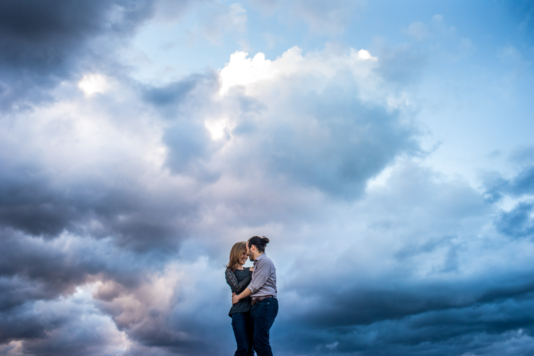 stormy weather engagement session