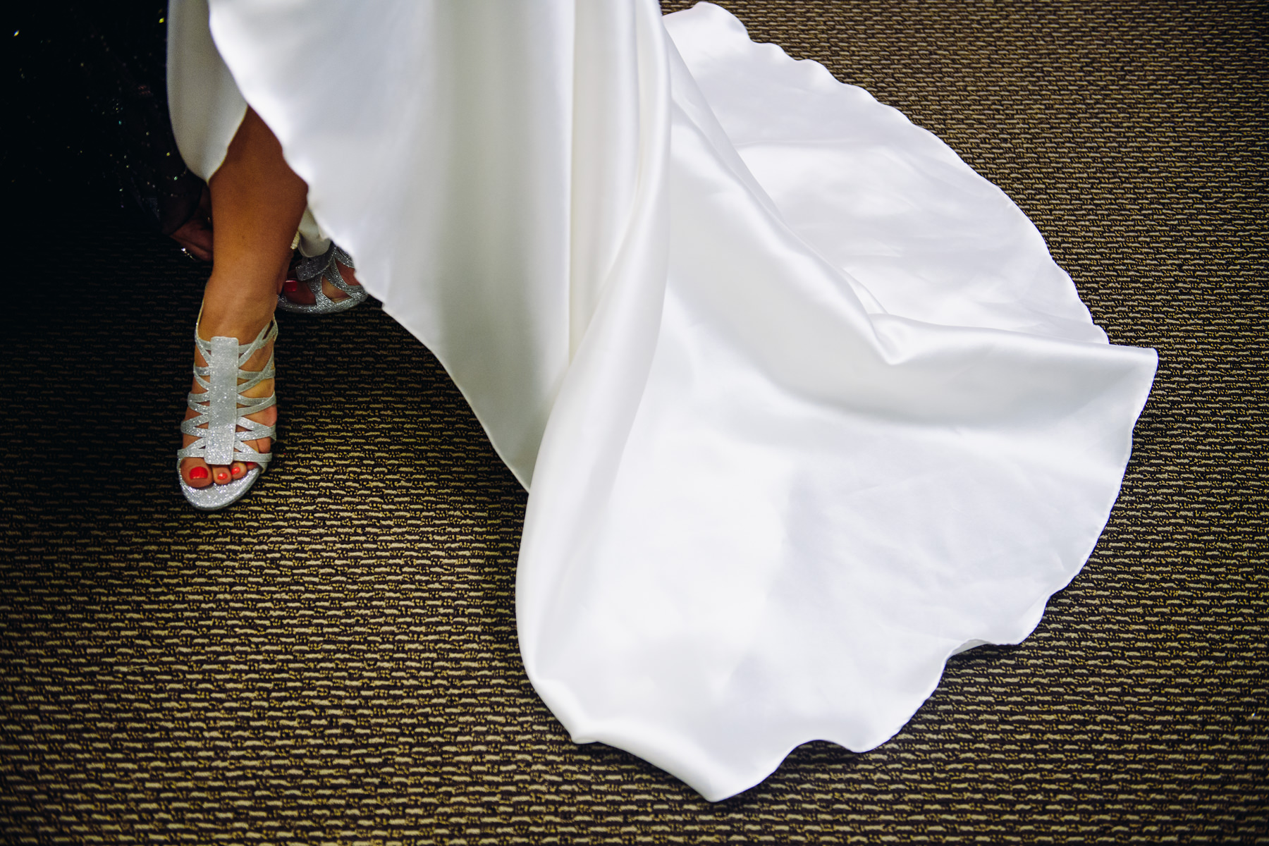 St. Joseph Catholic Church bride shoe photo