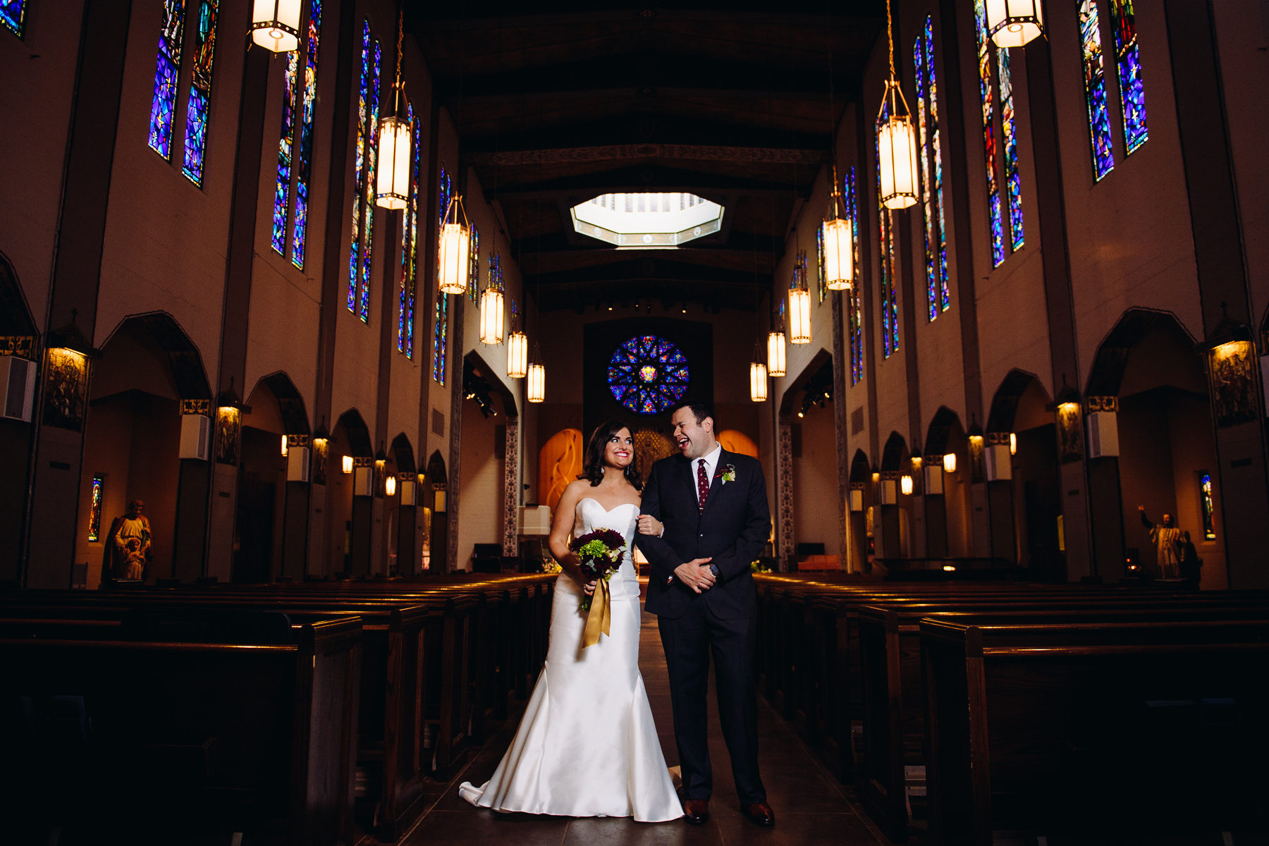 St. Joseph Catholic Church wedding portrait