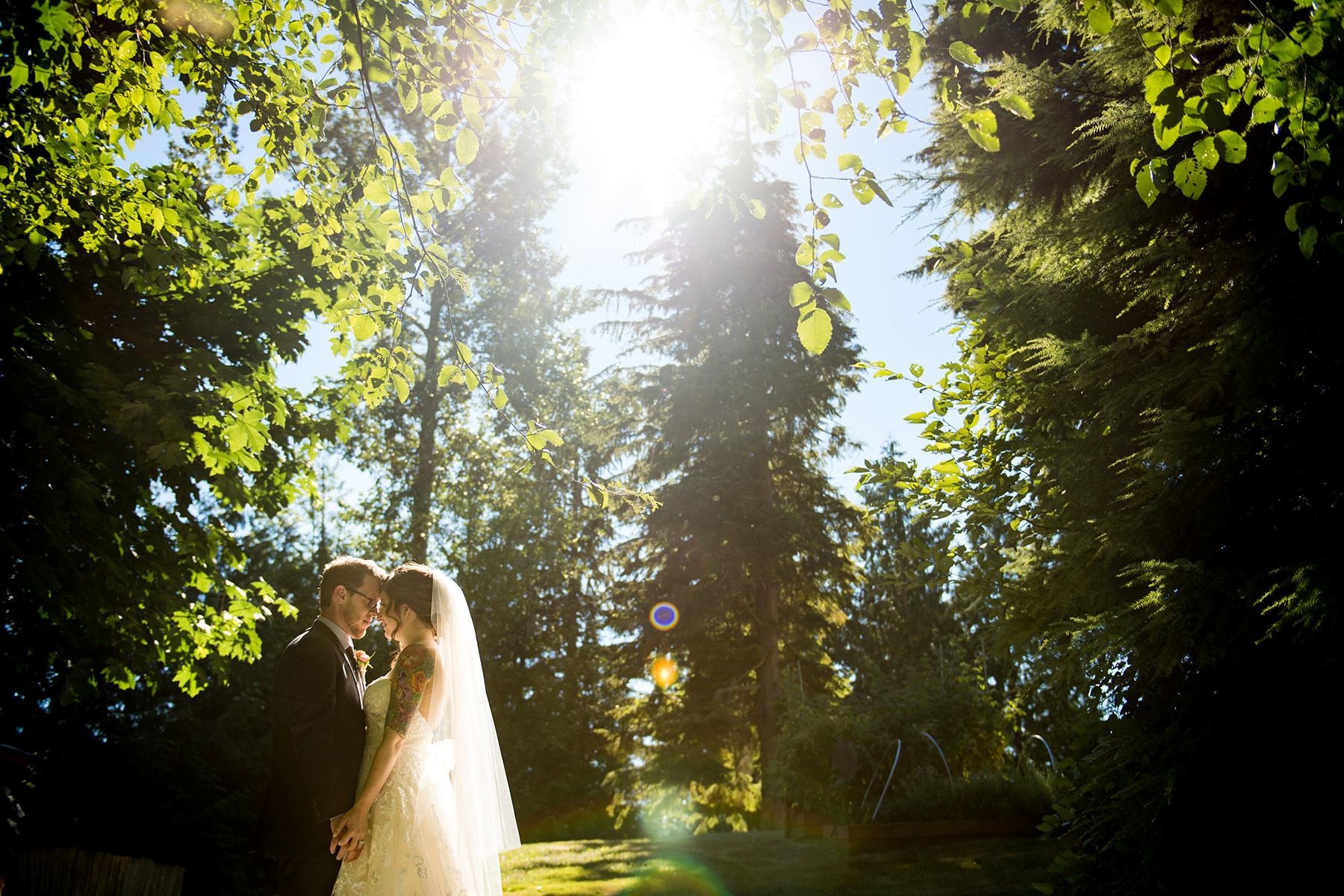 Bellingham backyard wedding portraits