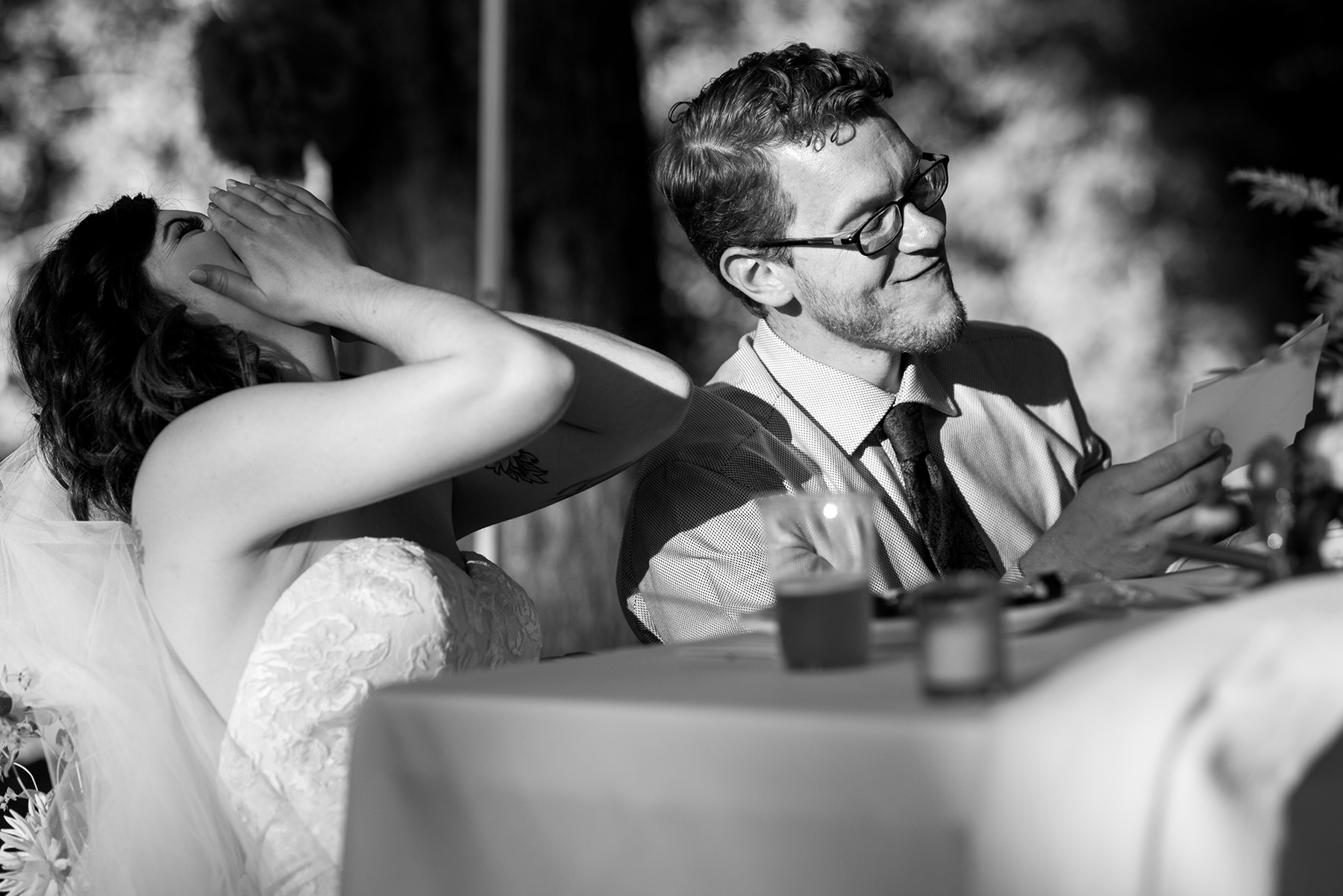 Bellingham backyard wedding toasts