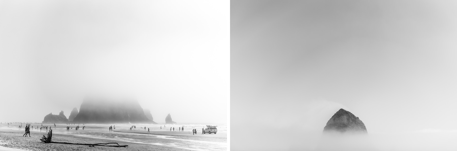 fog day at cannon beach