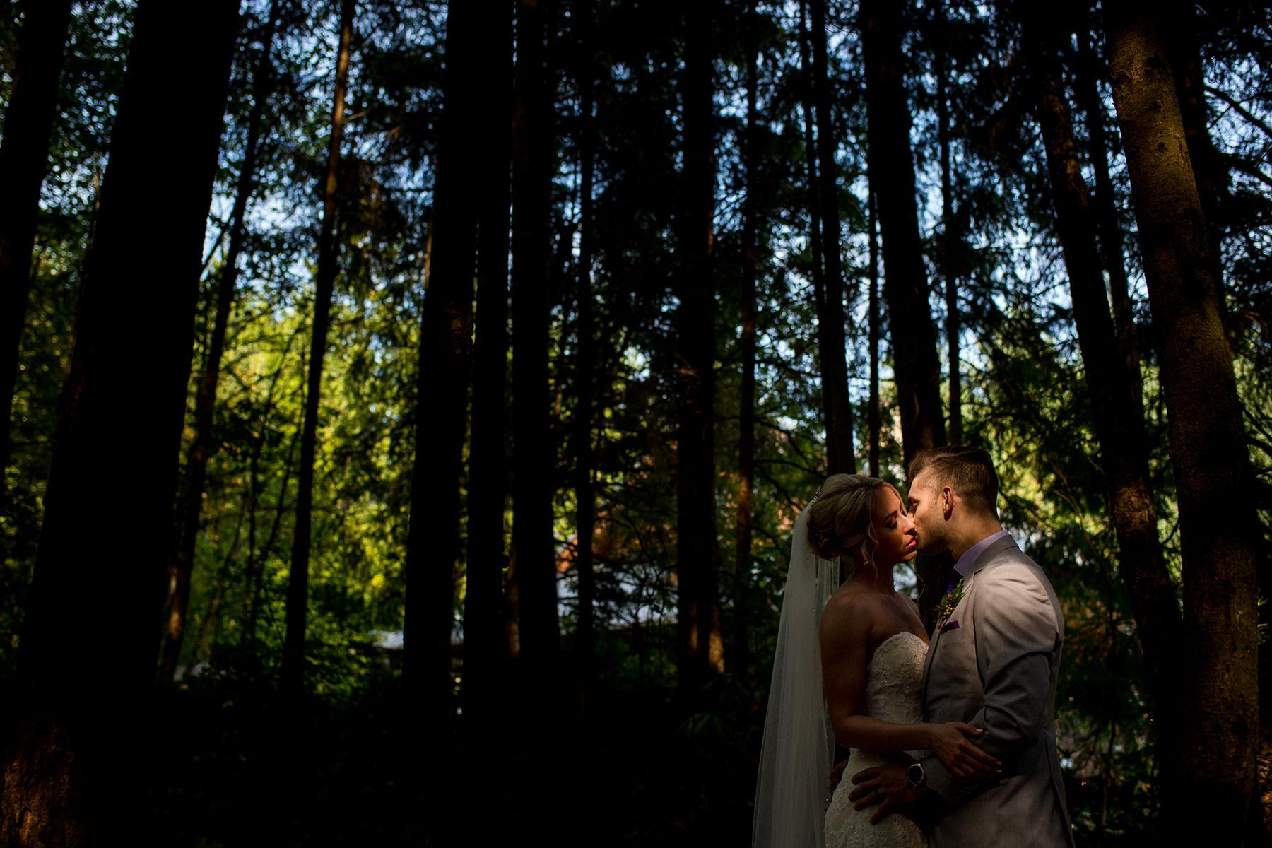 moody wedding portrait